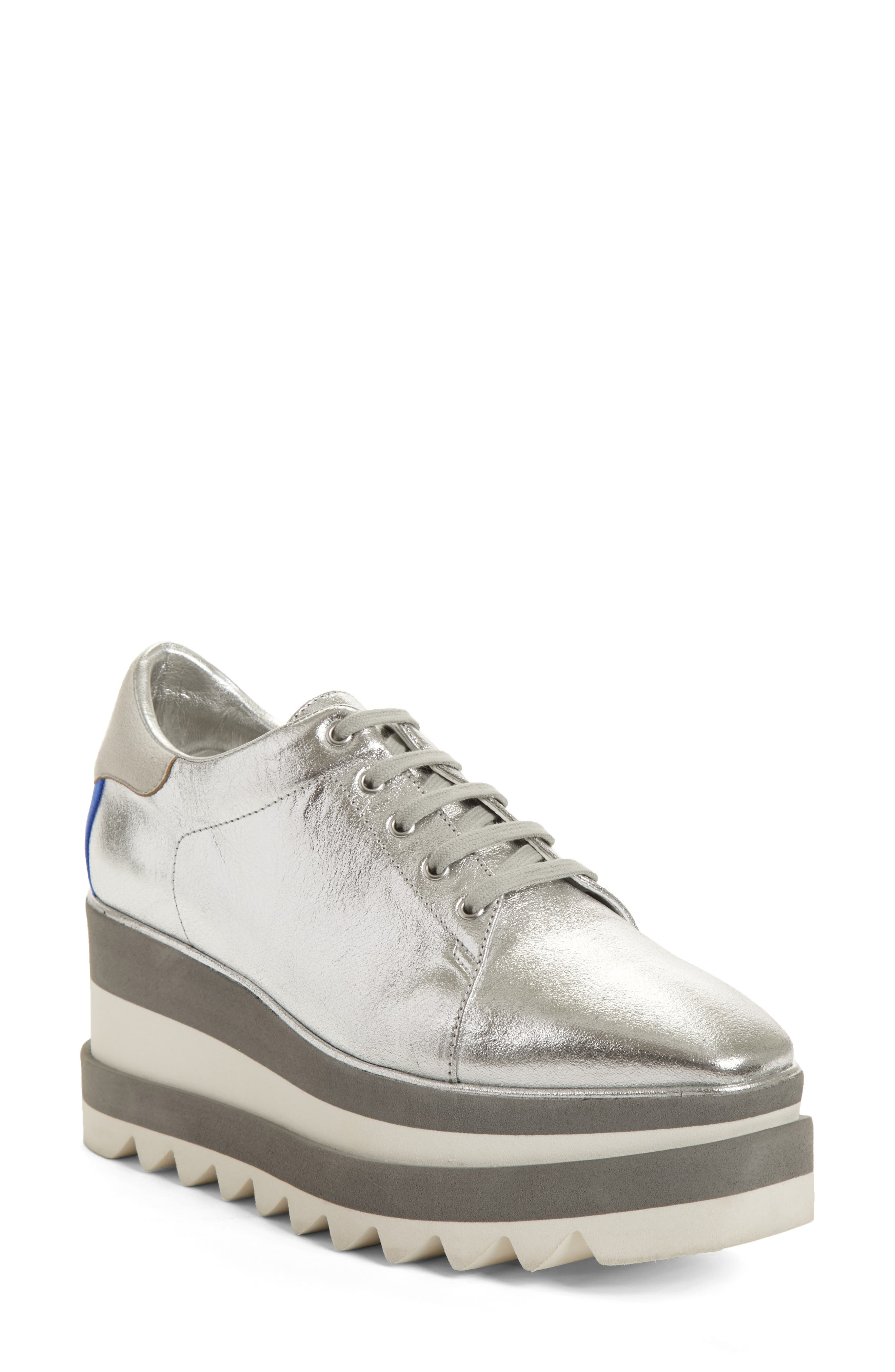 Elyse Platform Sneaker,                         Main,                         color, Silver
