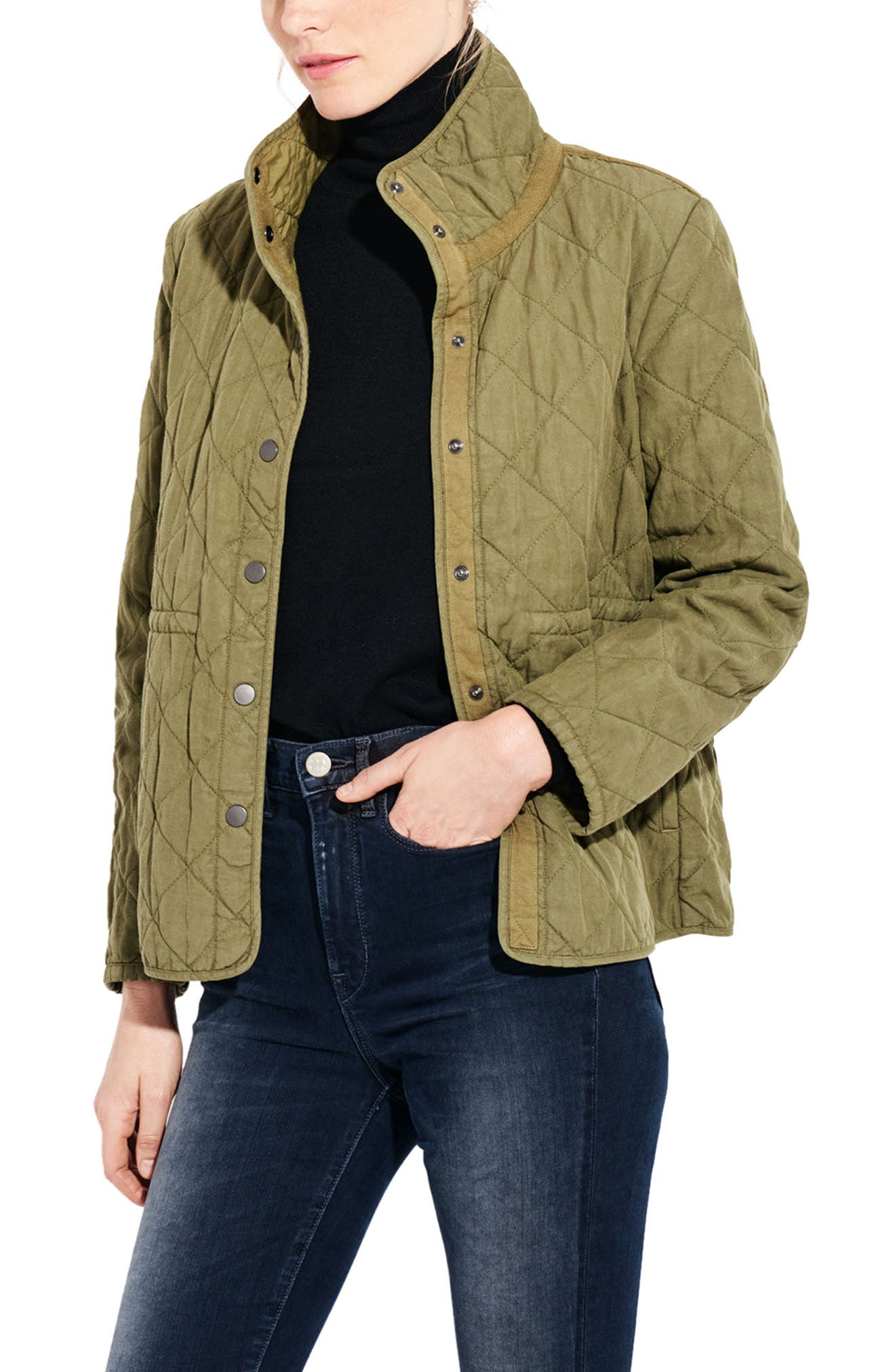The Blast Quilted Jacket,                             Alternate thumbnail 3, color,                             Cargo Green
