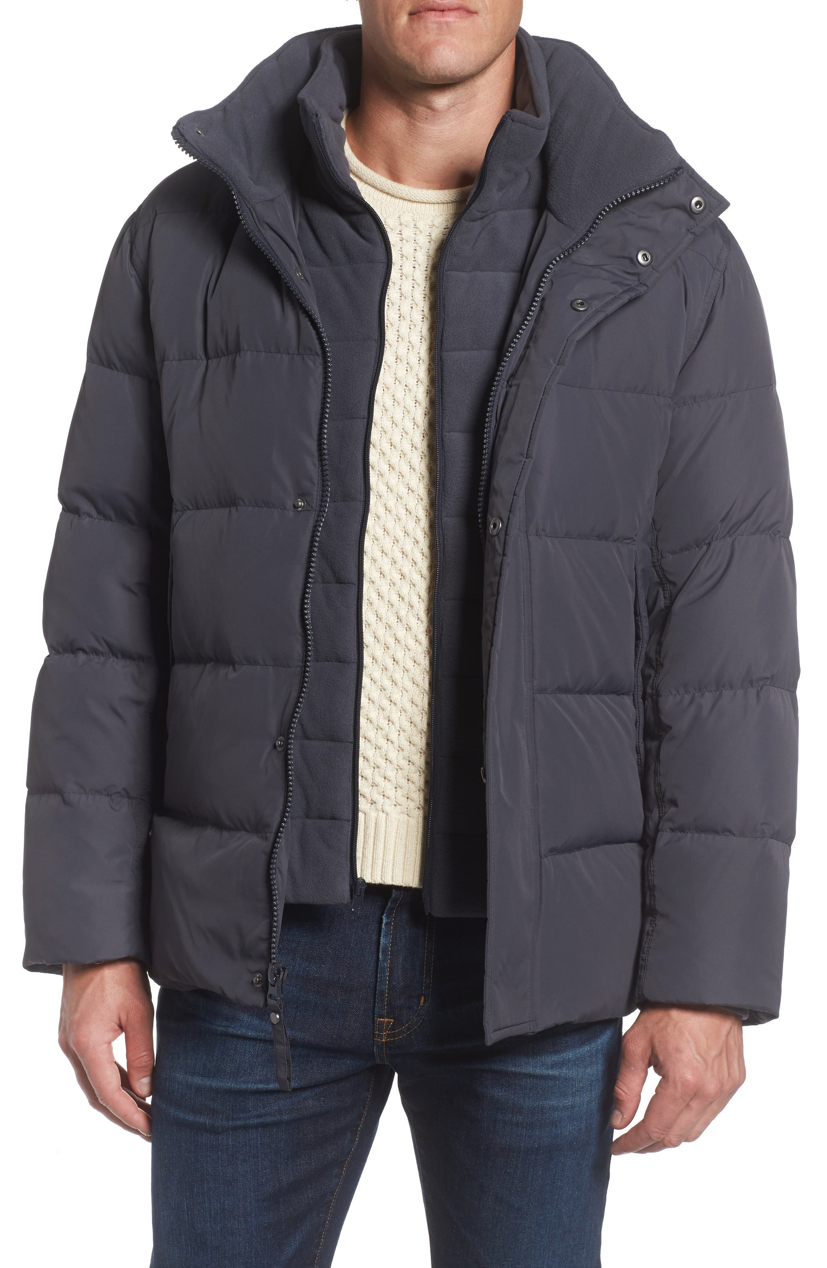 Andrew Marc Carlton Quilted Parka,                             Main thumbnail 1, color,                             Magnet