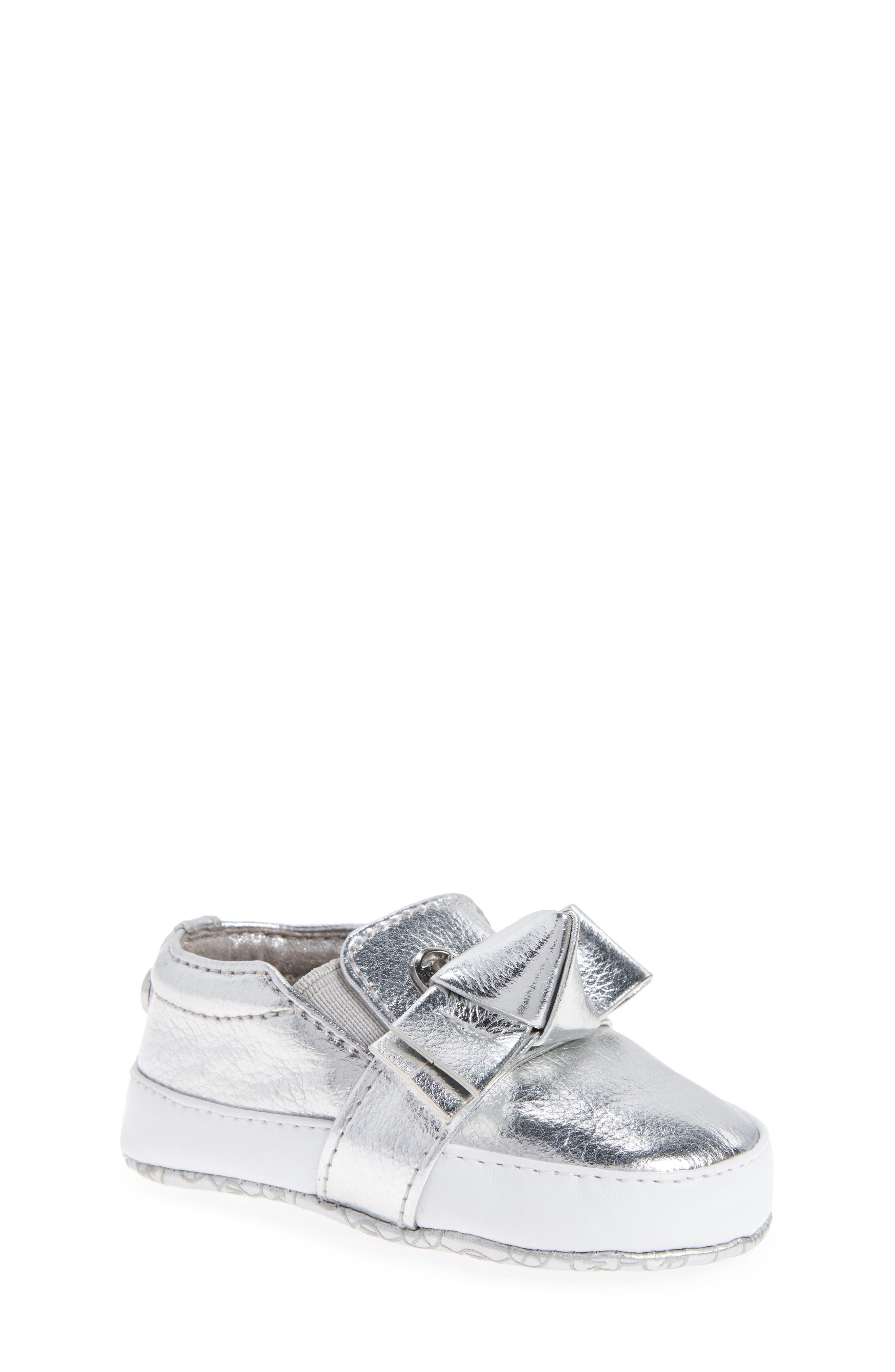 Main Image - MICHAEL Michael Kors Baby Poppy Slip-On Crib Shoe (Baby)