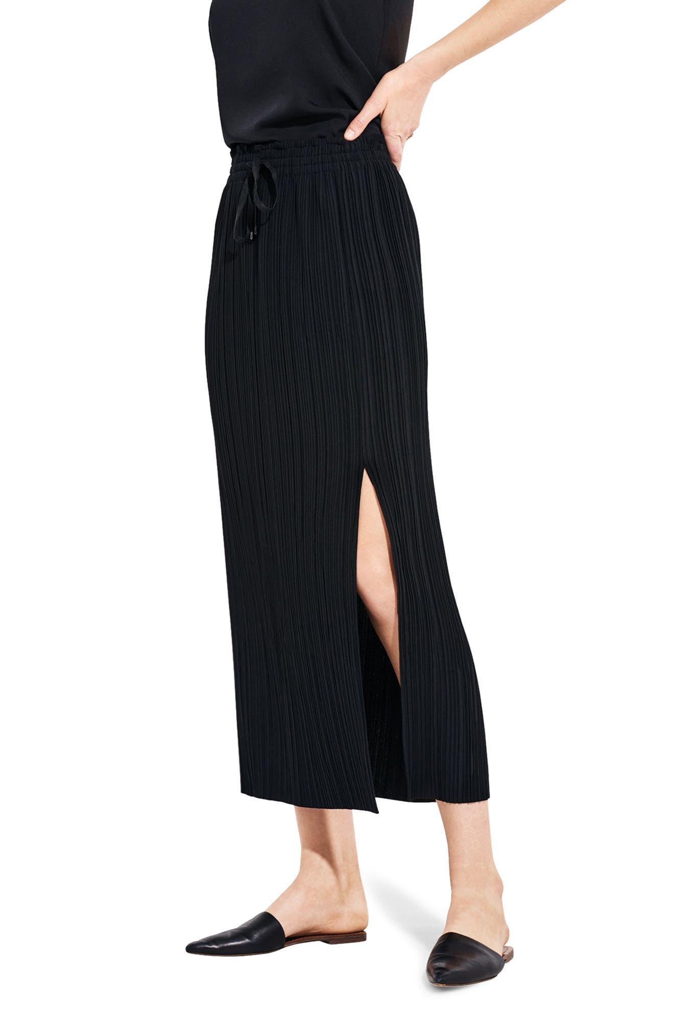 The Lit Midi Skirt,                         Main,                         color, Black