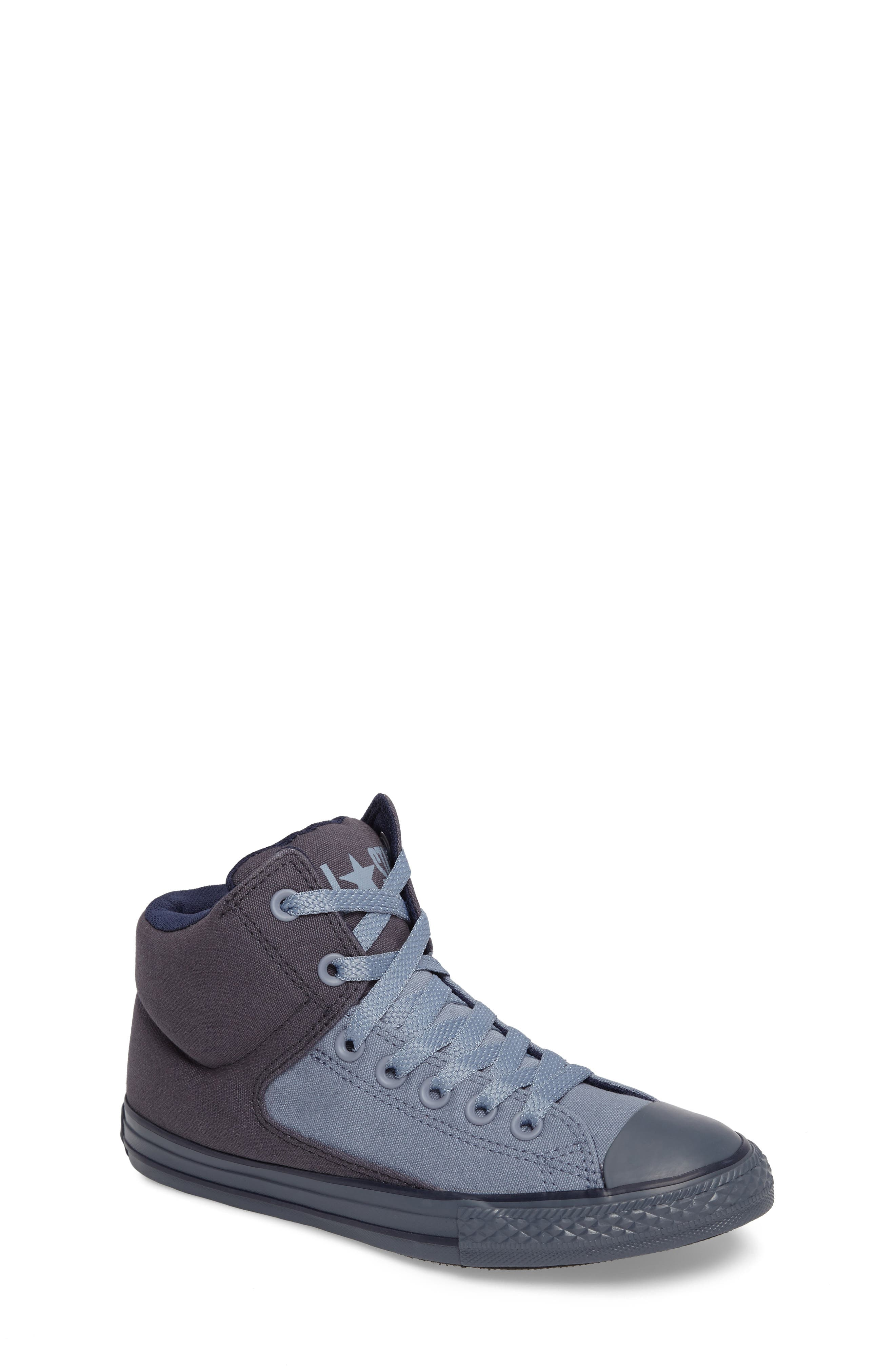 Chuck Taylor<sup>®</sup> All Star<sup>®</sup> High Street High Top Sneaker,                             Main thumbnail 1, color,                             Sharkskin Canvas