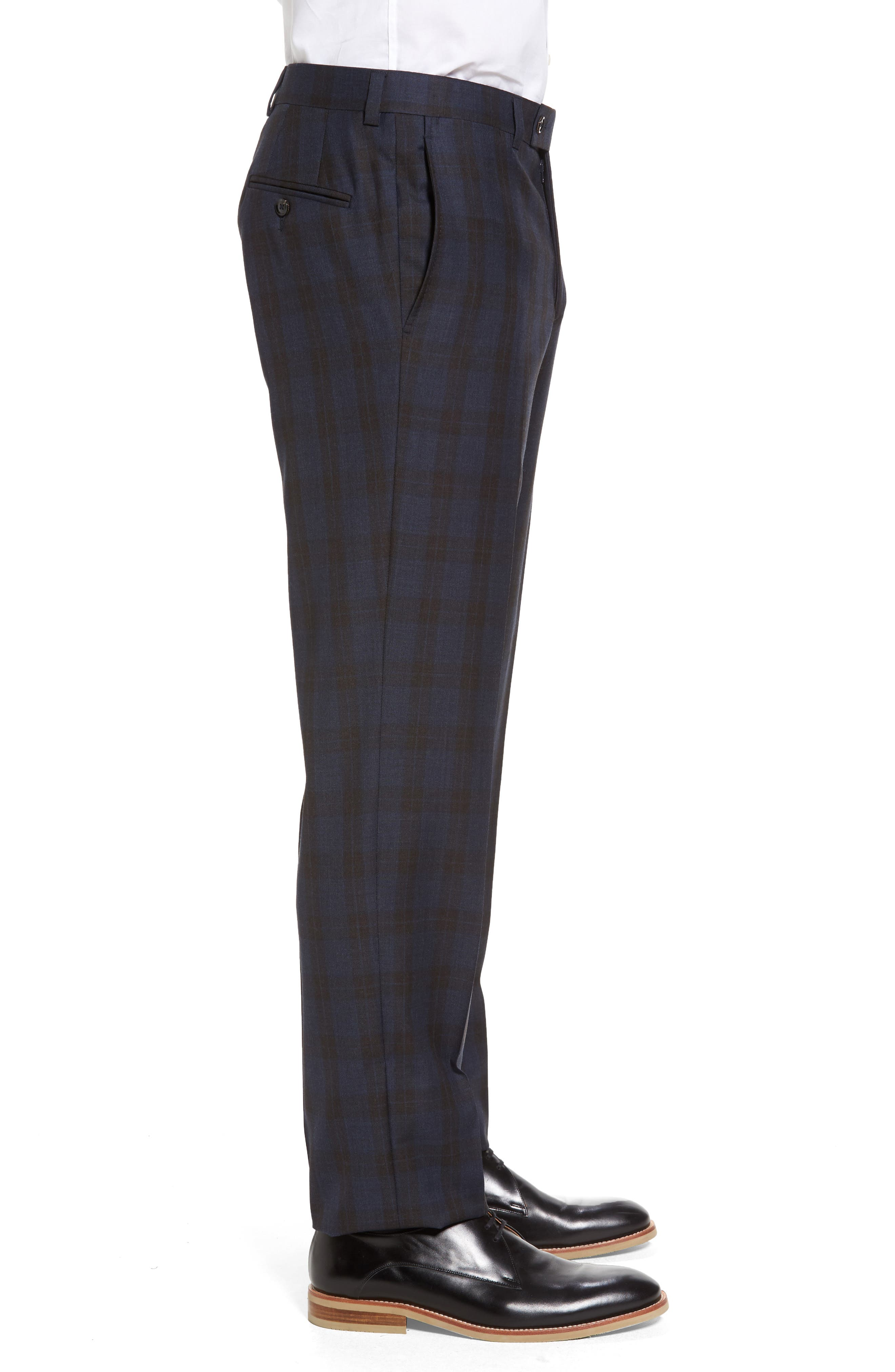 Alternate Image 4  - Ted Baker London Jefferson Flat Front Plaid Wool Trousers