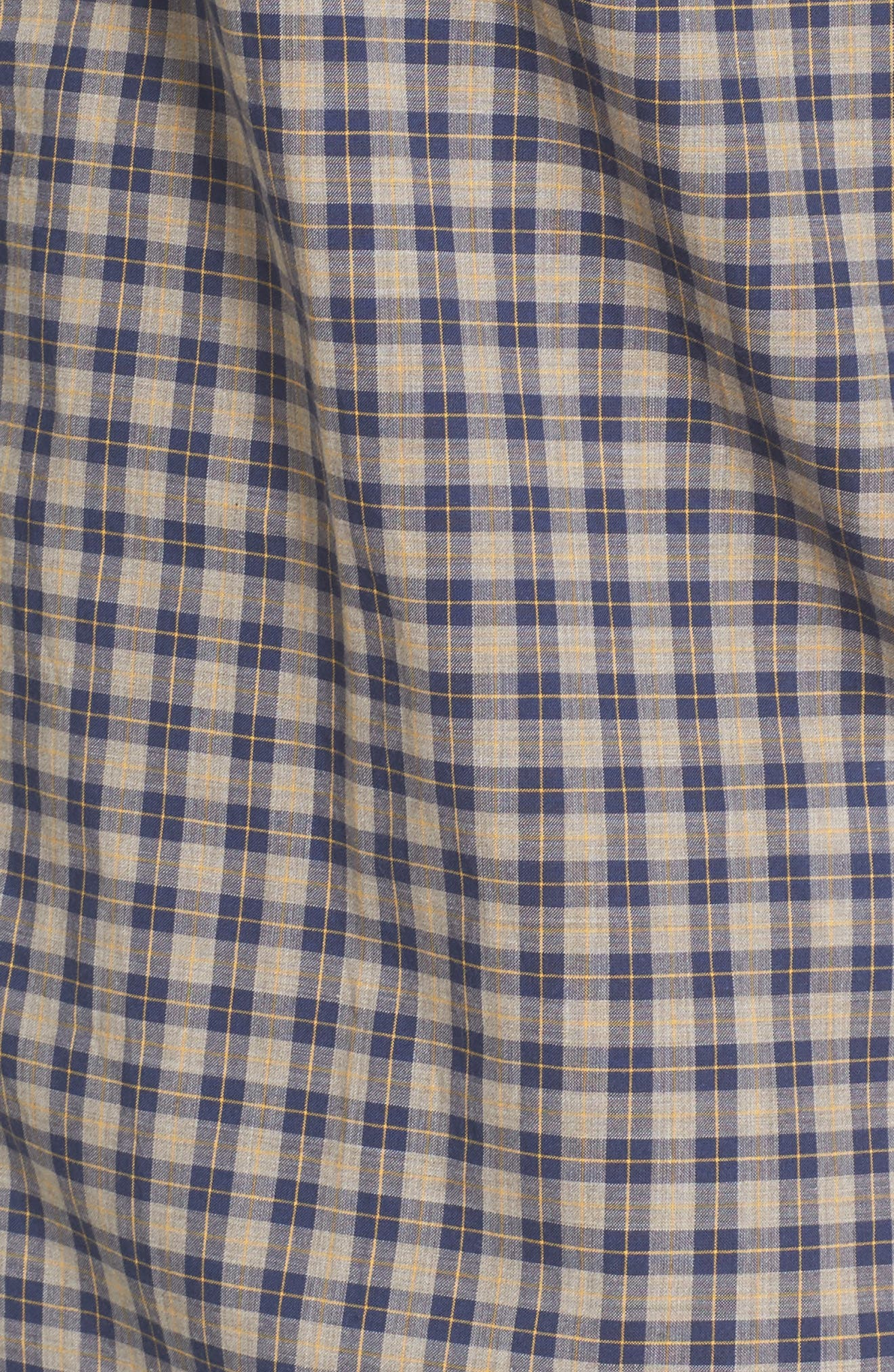 Fitted Plaid Sport Shirt,                             Alternate thumbnail 5, color,                             Open Blue