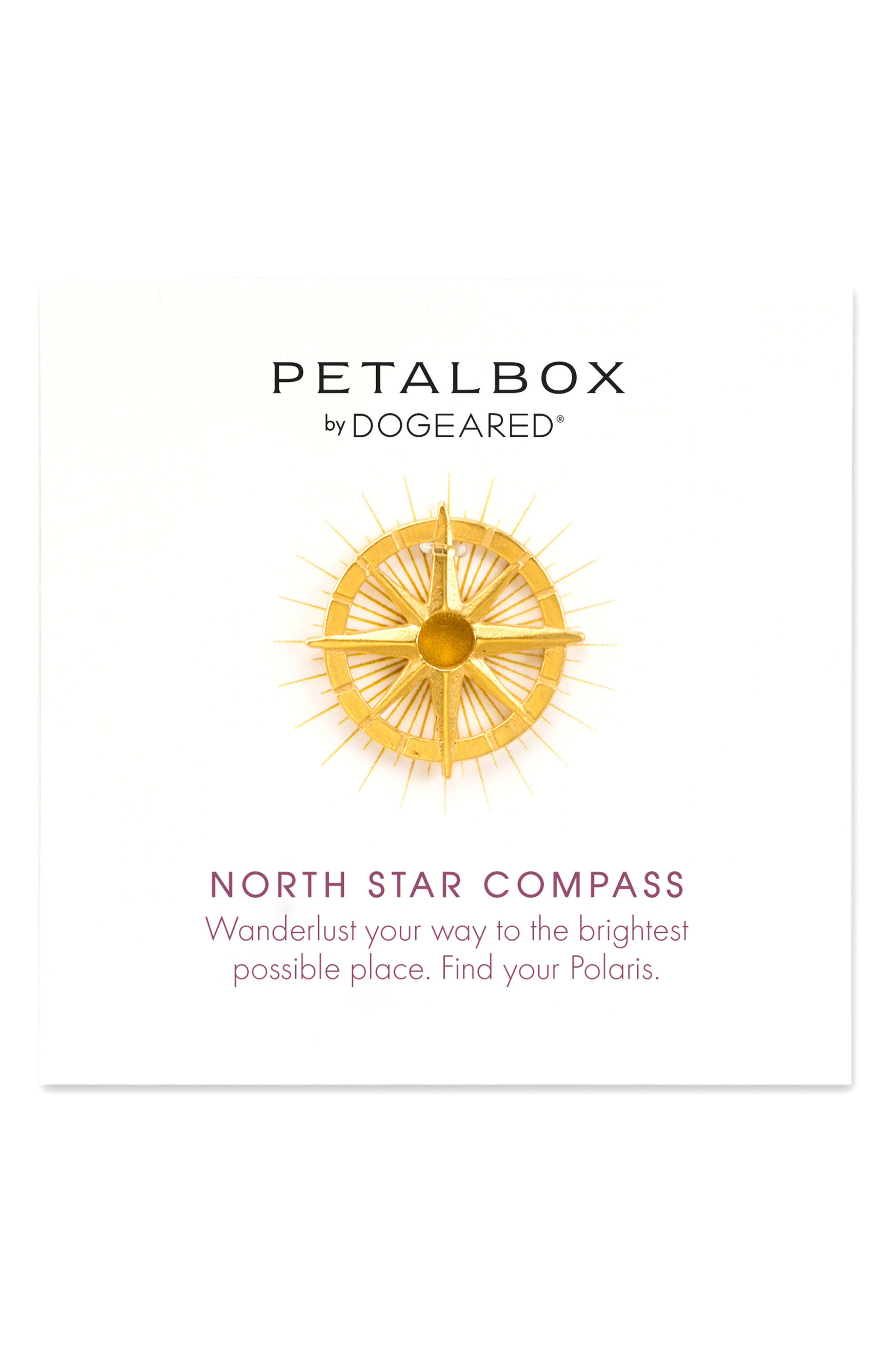DOGEARED Petalbox North Star Compass Pendant Necklace