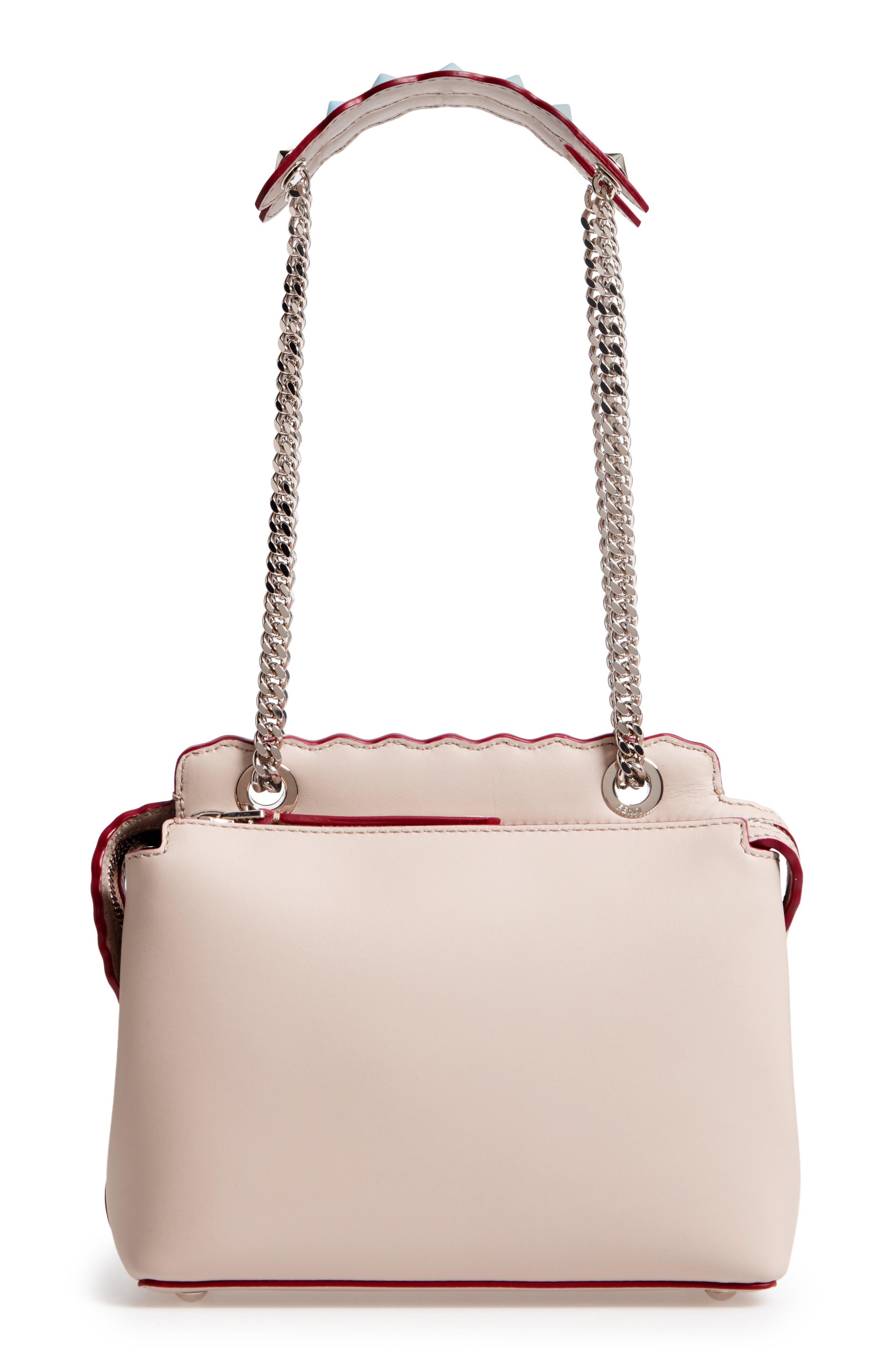Small Dotcom Leather Shoulder Bag,                             Alternate thumbnail 3, color,                             Black Palladium