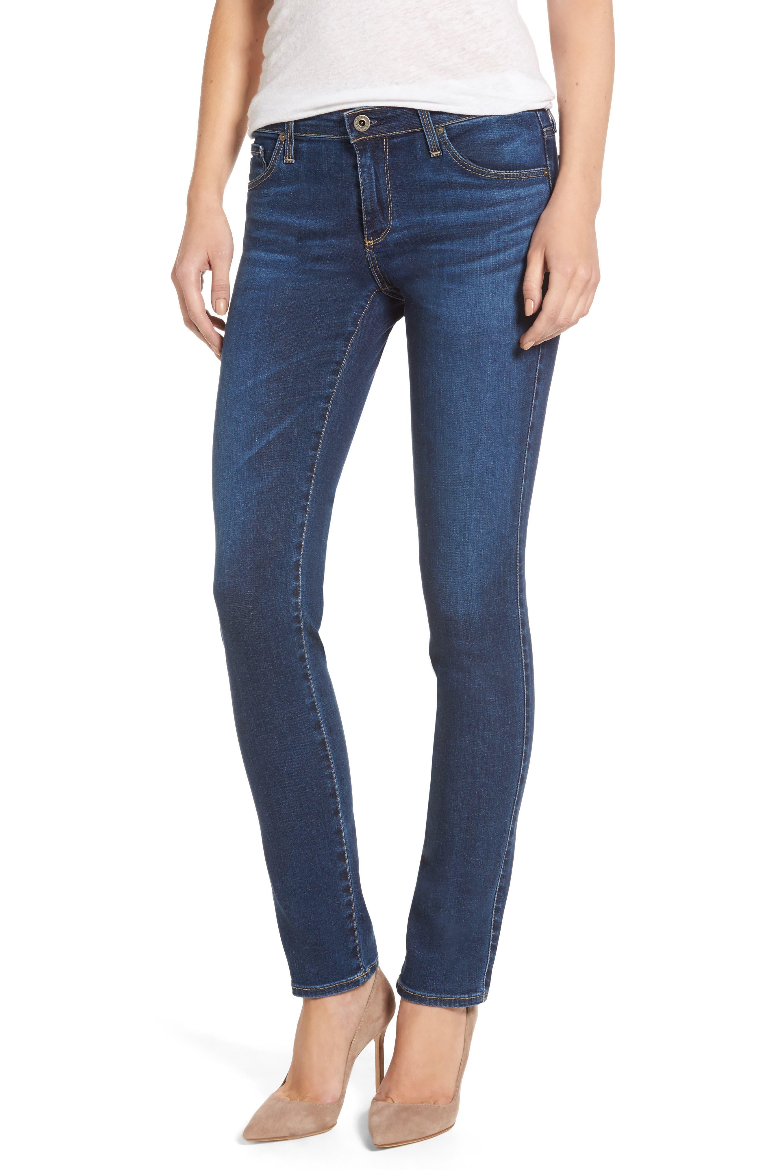 The Stilt Cigarette Leg Jeans,                         Main,                         color, Elysium
