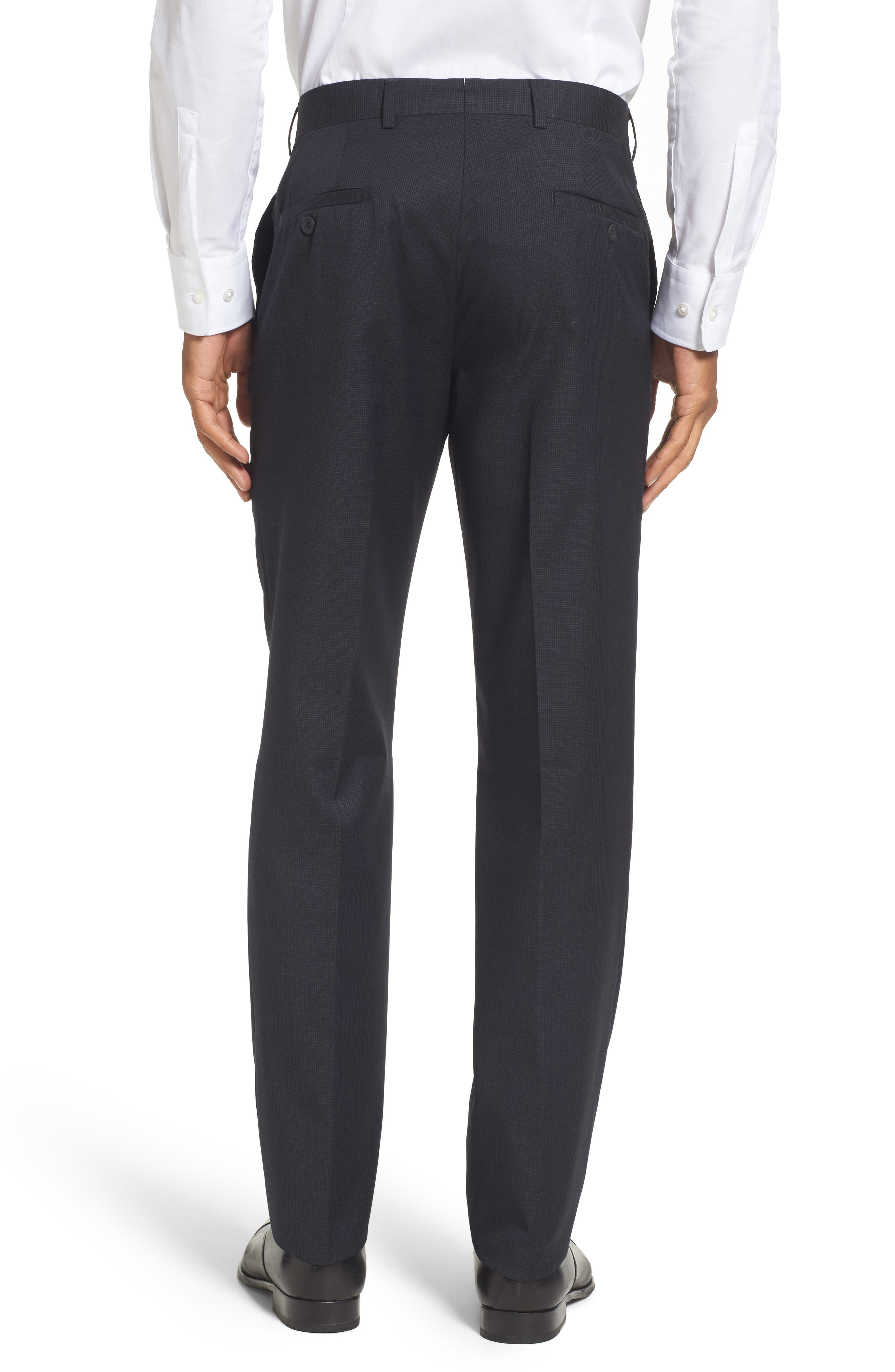 Alternate Image 2  - Nordstrom Men's Shop Flat Front Check Wool Trousers