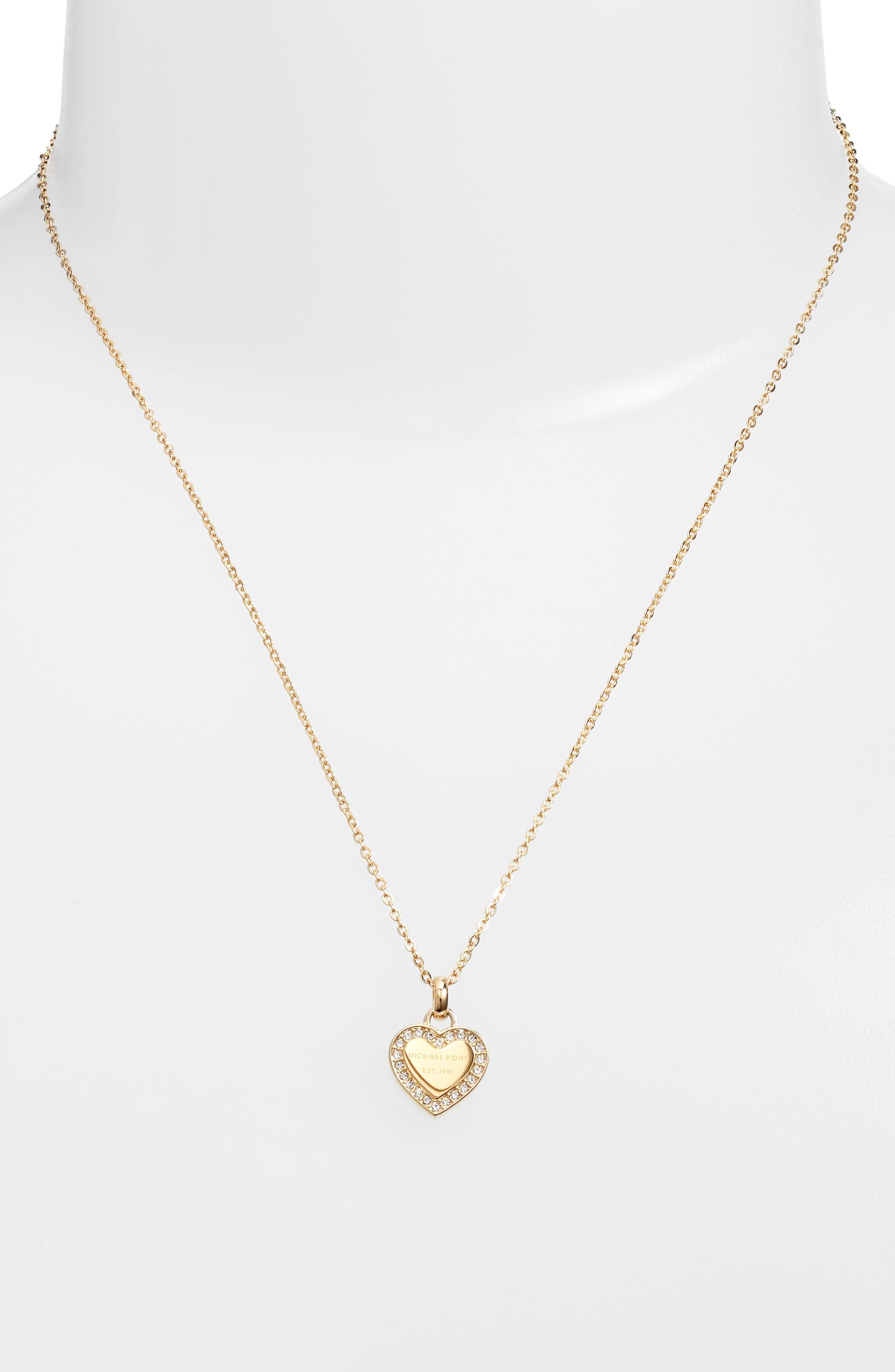 Michael Kors Heart Pendant Necklace