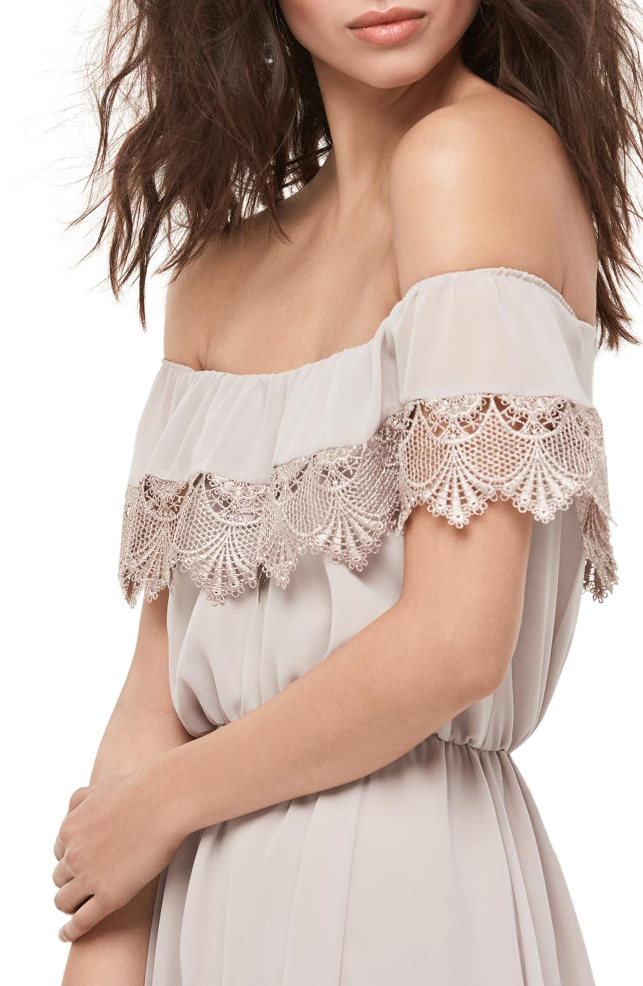 Alternate Image 3  - WTOO Inna Off the Shoulder Chiffon Blouson Gown