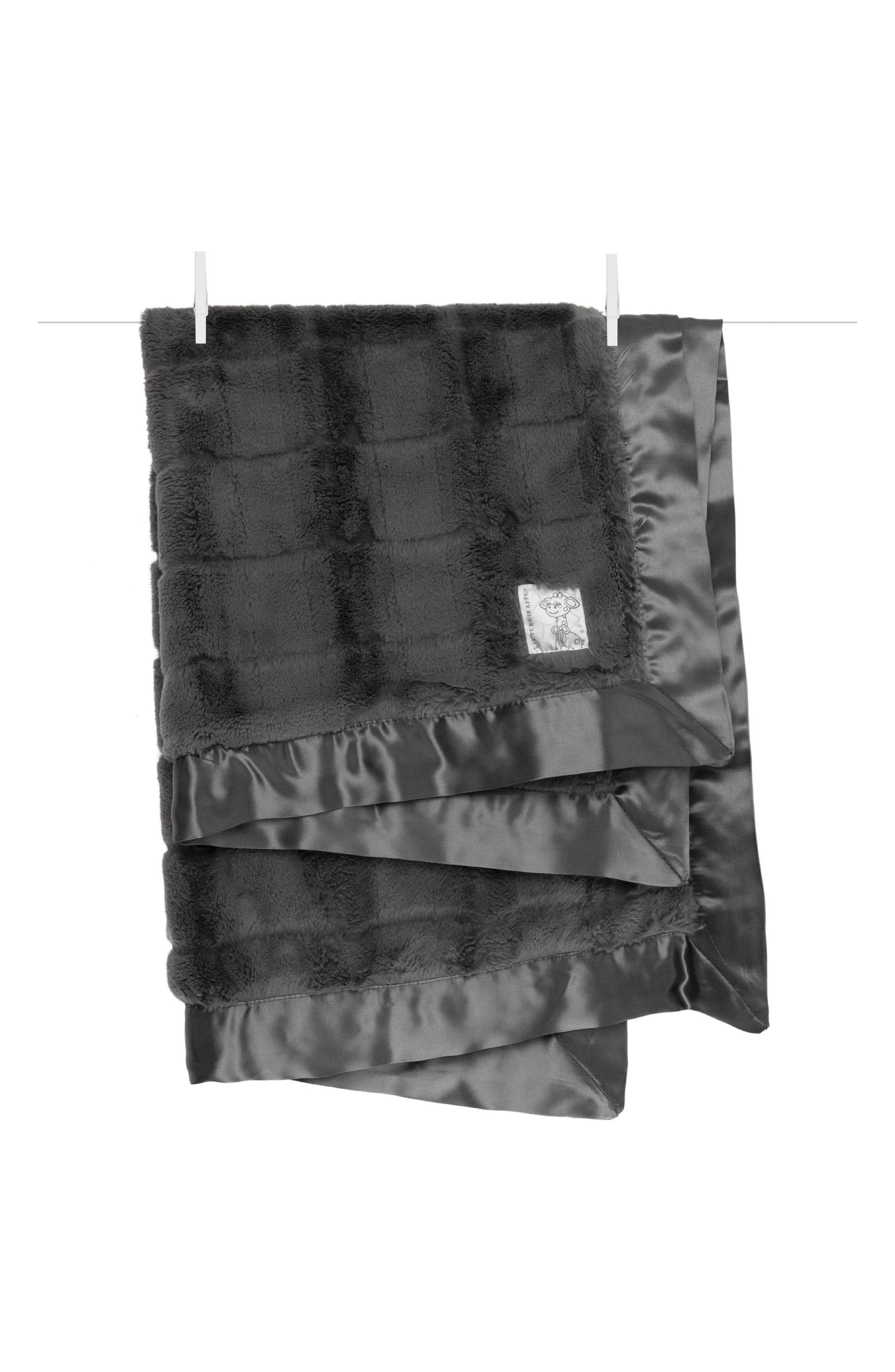 Luxe Waterfall Blanket,                             Main thumbnail 1, color,                             Charcoal