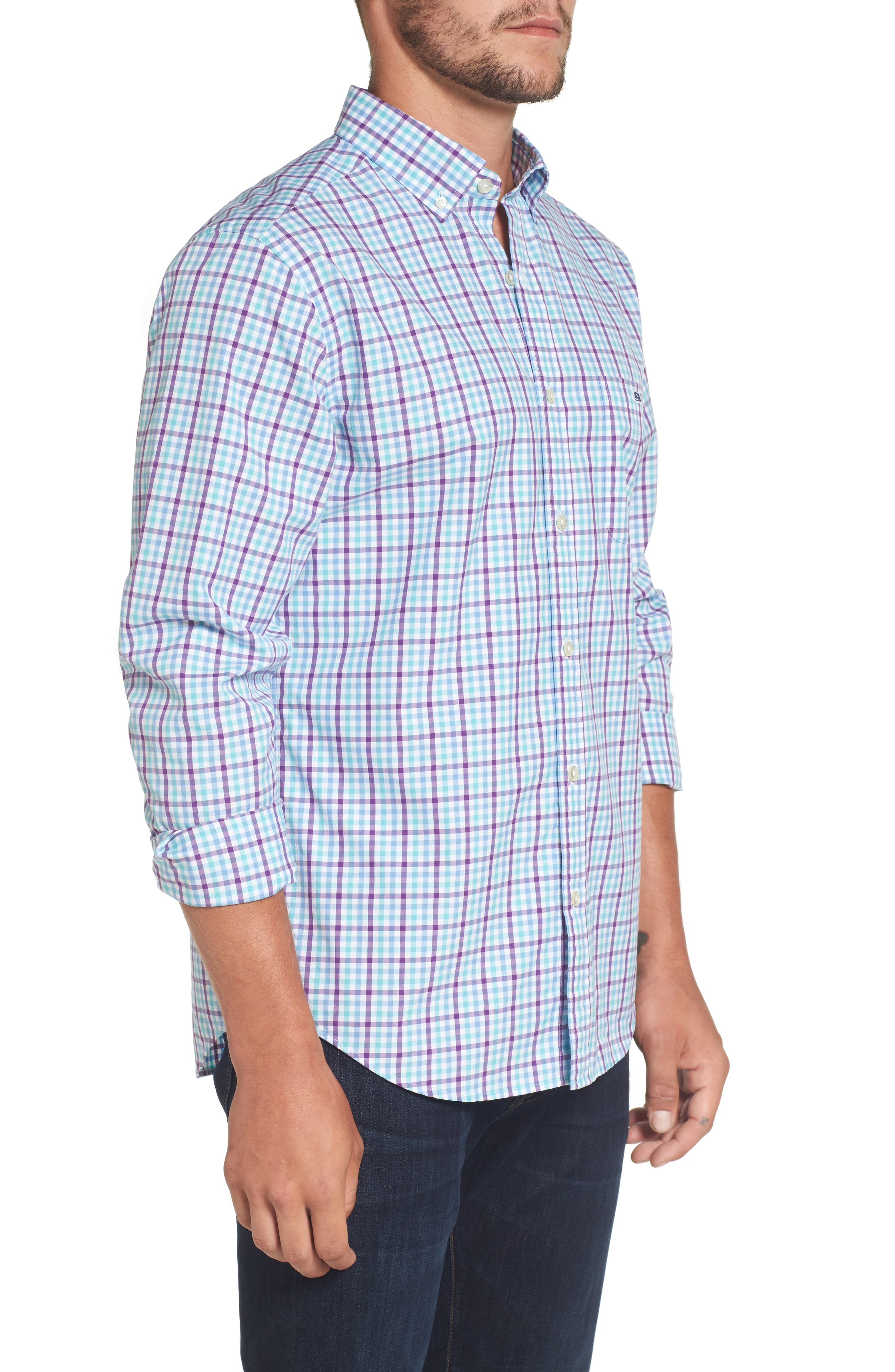 Alternate Image 3  - vineyard vines Tucker Classic Fit Gingham Sport Shirt