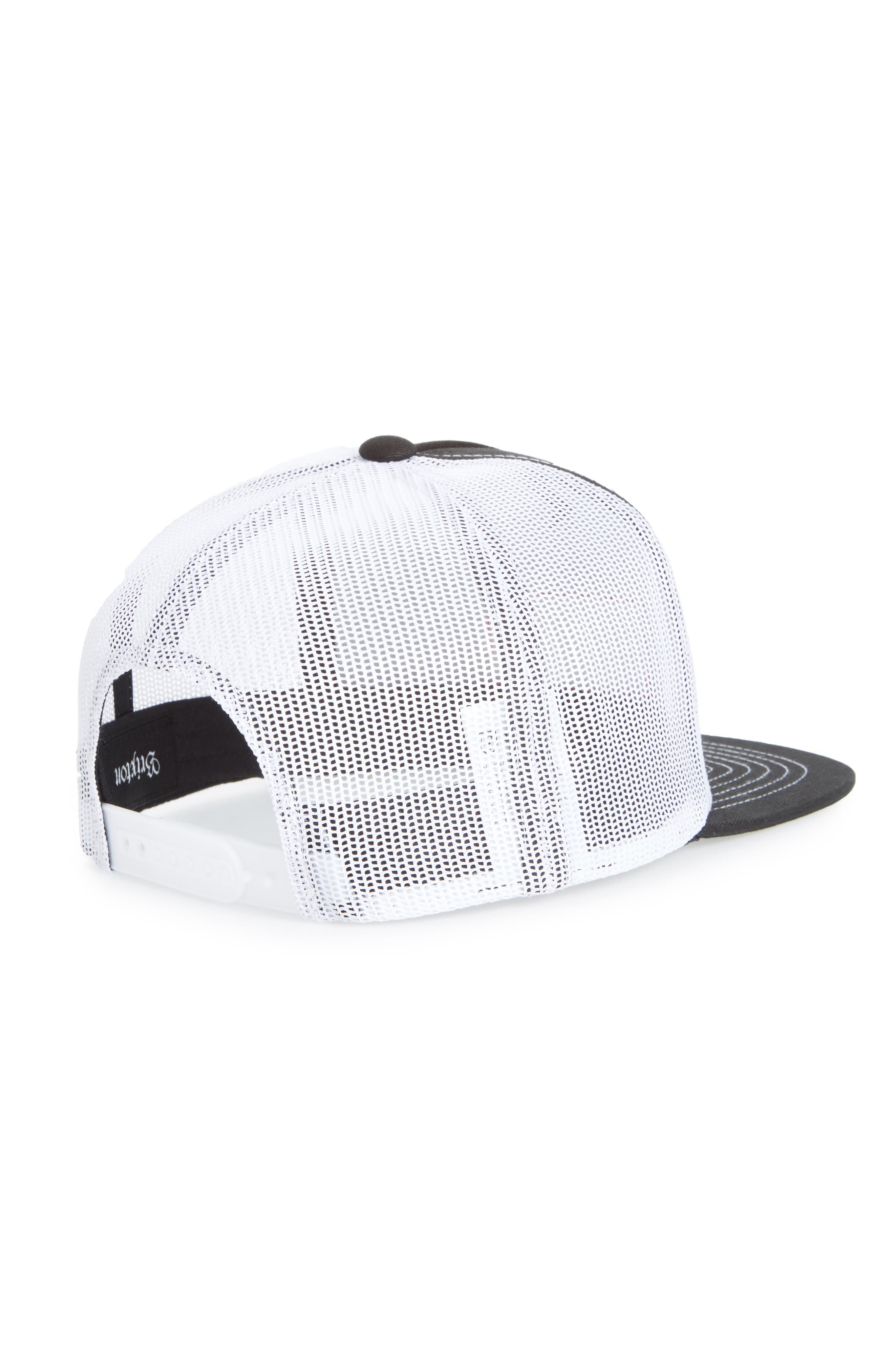 Langley Trucker Hat,                             Alternate thumbnail 2, color,                             Black/ White
