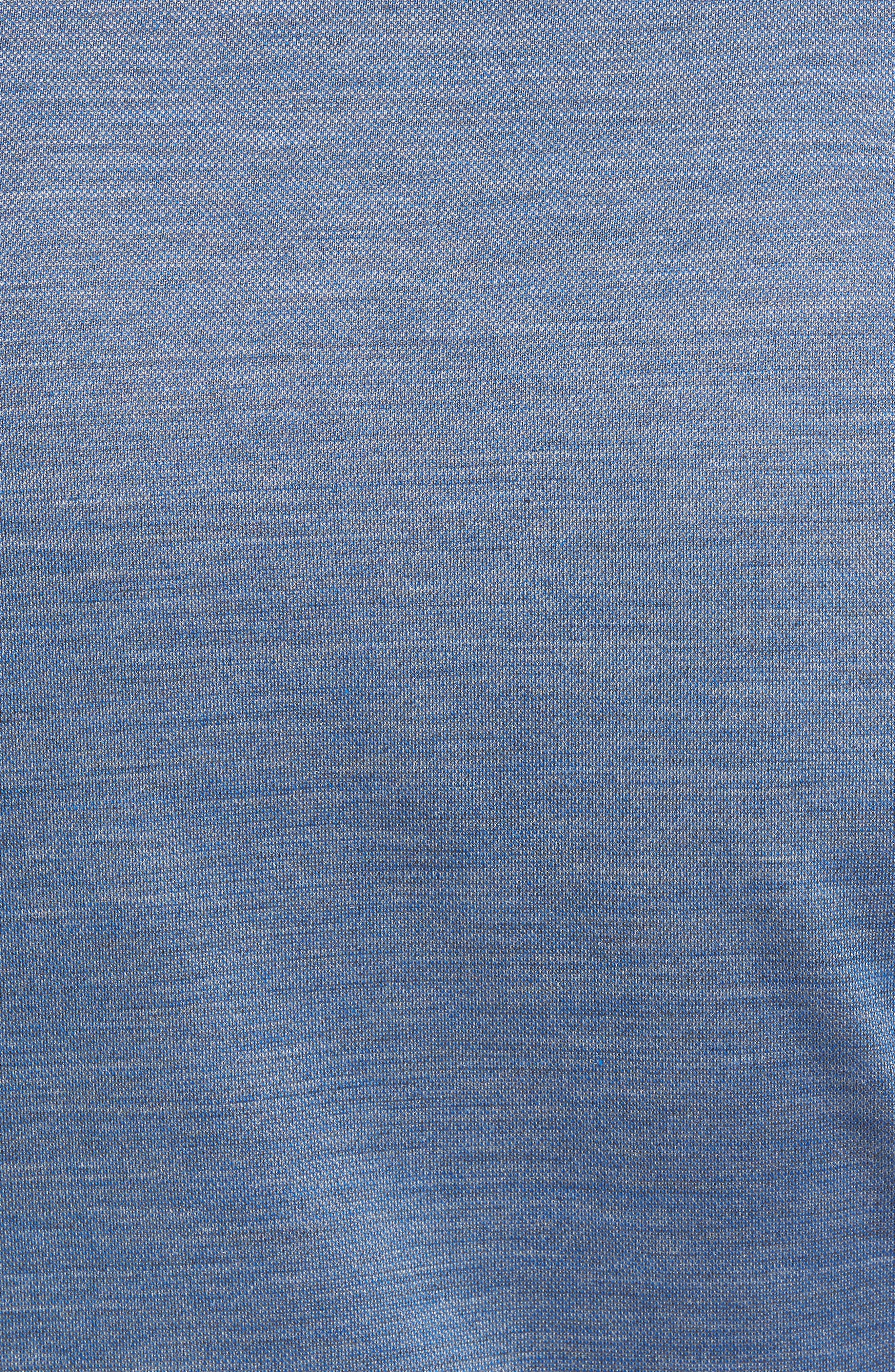 Voyage Cotton & Silk Polo,                             Alternate thumbnail 5, color,                             Avio Blue