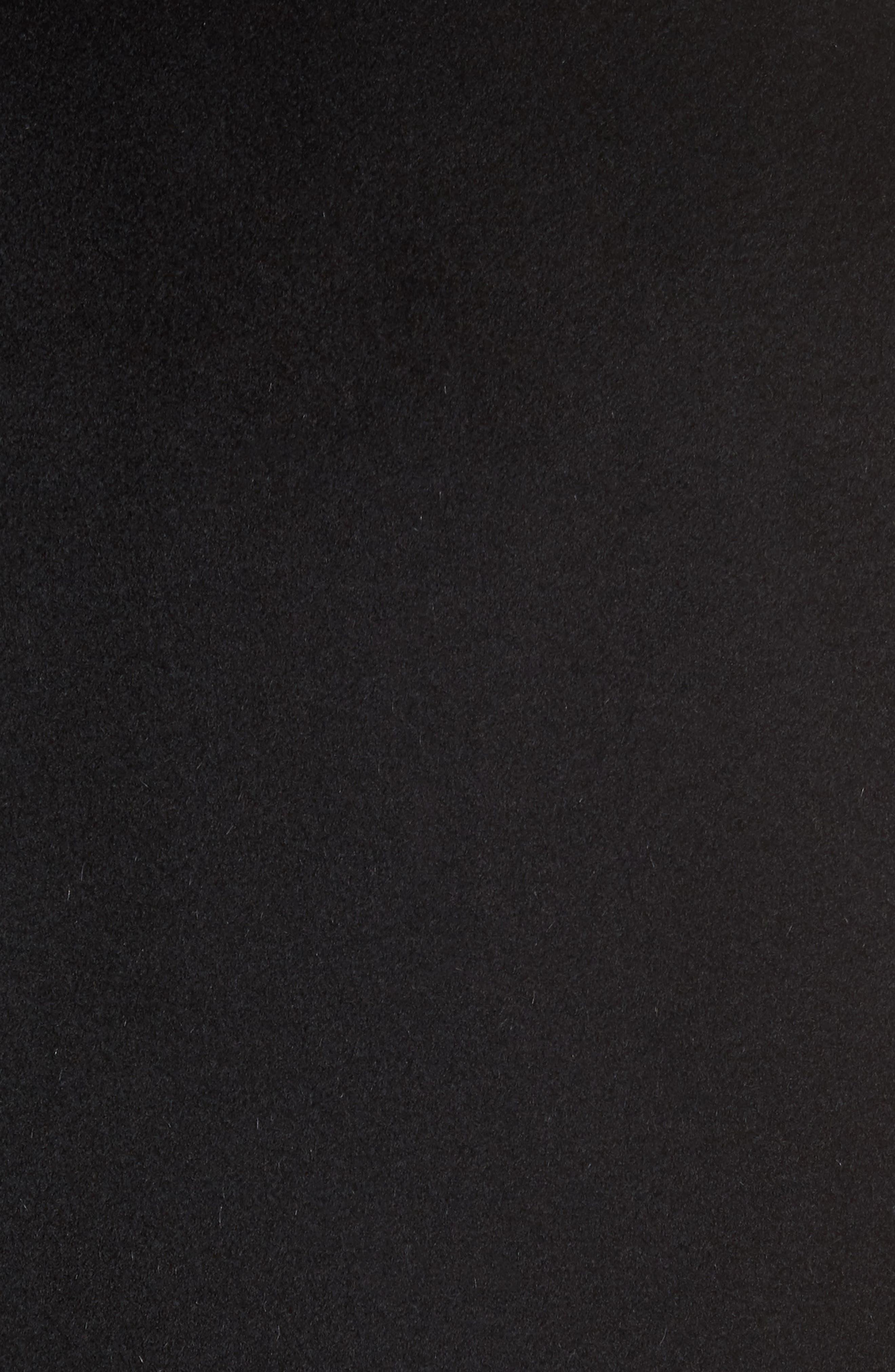 Classic Fit Wool Overcoat,                             Alternate thumbnail 5, color,                             Black