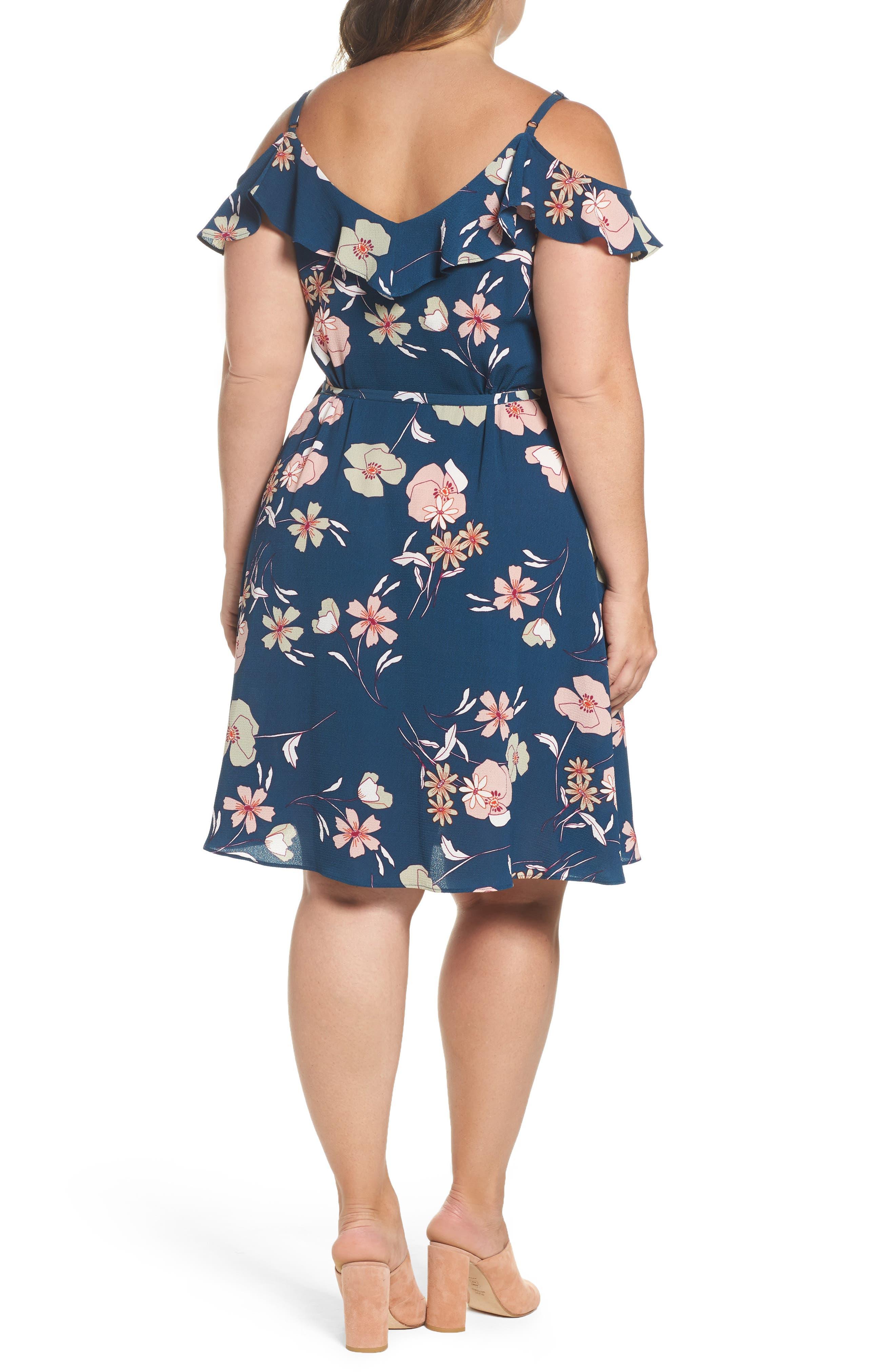 Alternate Image 3  - City Chic Lulu Floral Wrap Dress (Plus Size)