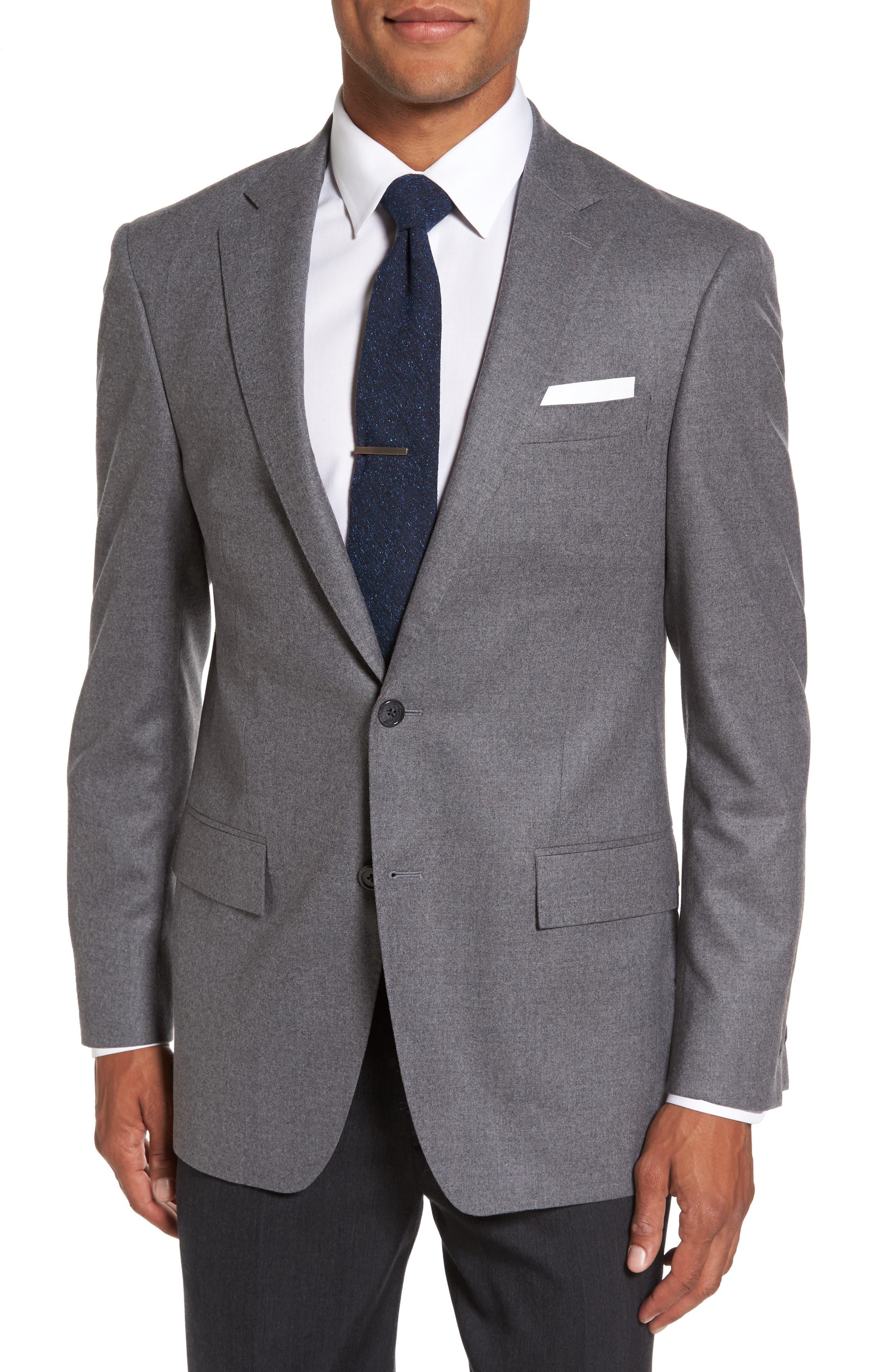 Sutton Trim Fit Stretch Wool Blazer,                         Main,                         color, Light Grey