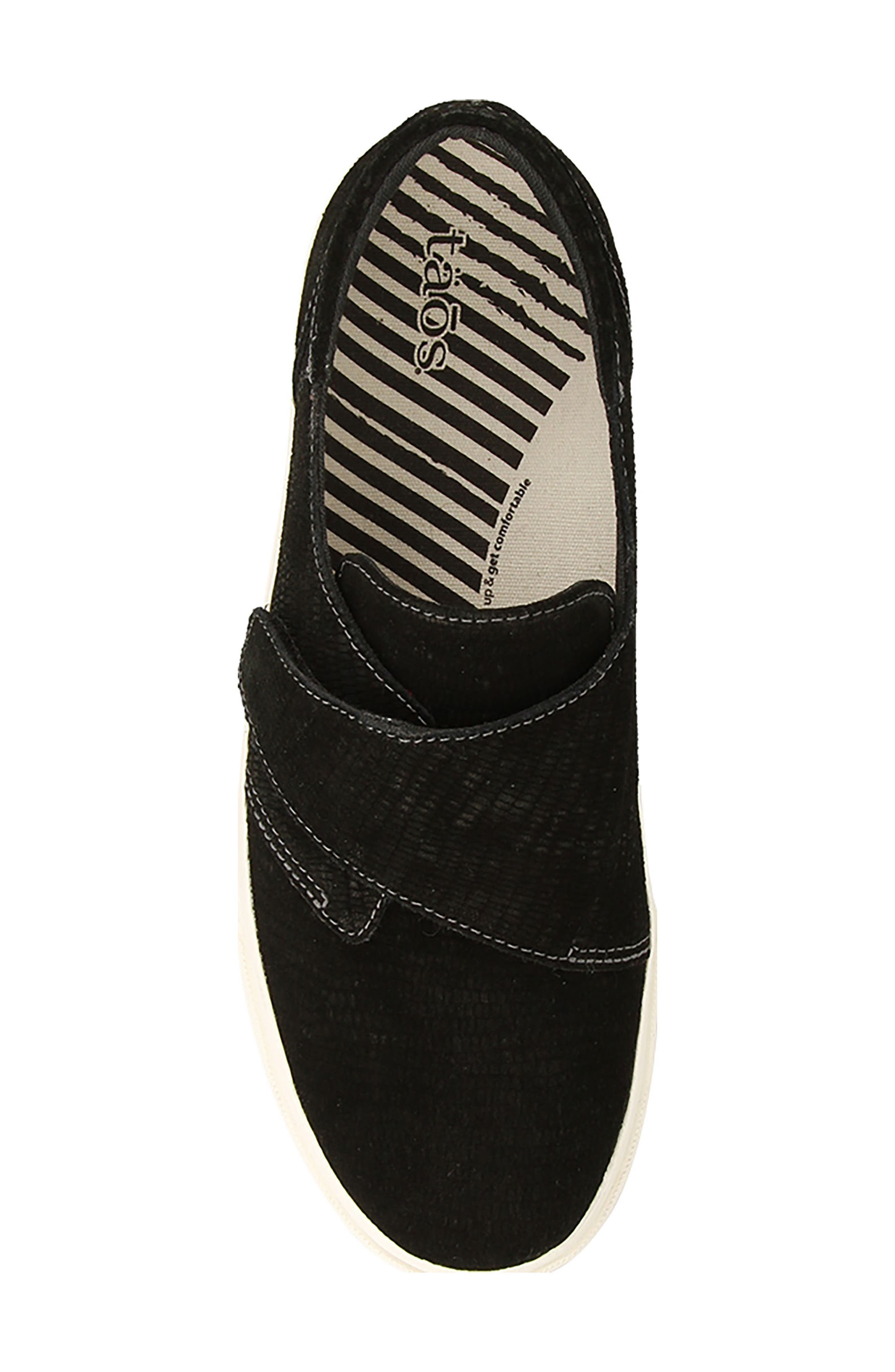 Soul Sneaker,                             Alternate thumbnail 5, color,                             Black Emboss Suede