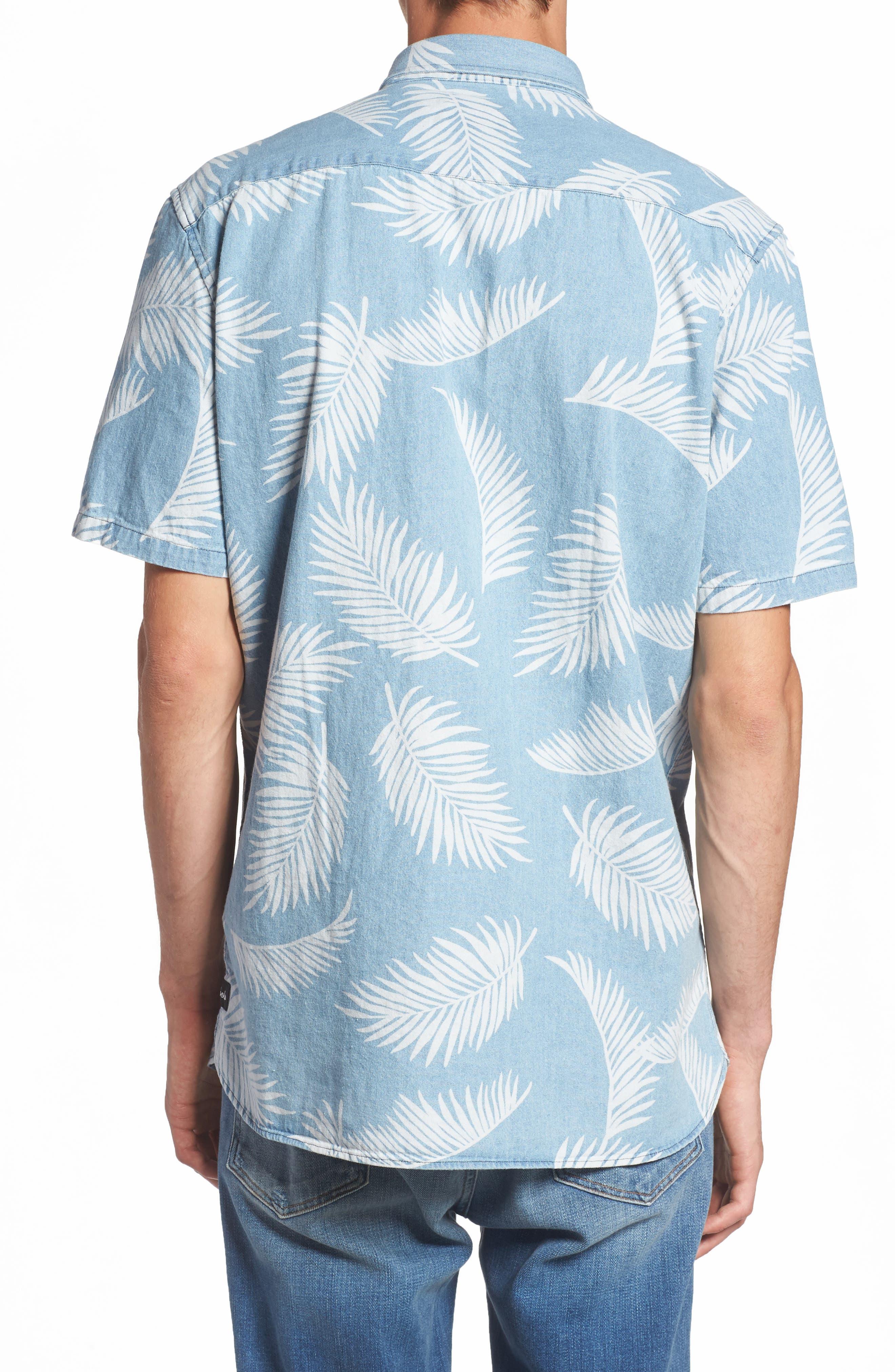Bahamas Shirt,                             Alternate thumbnail 2, color,                             Indigo/ Floral