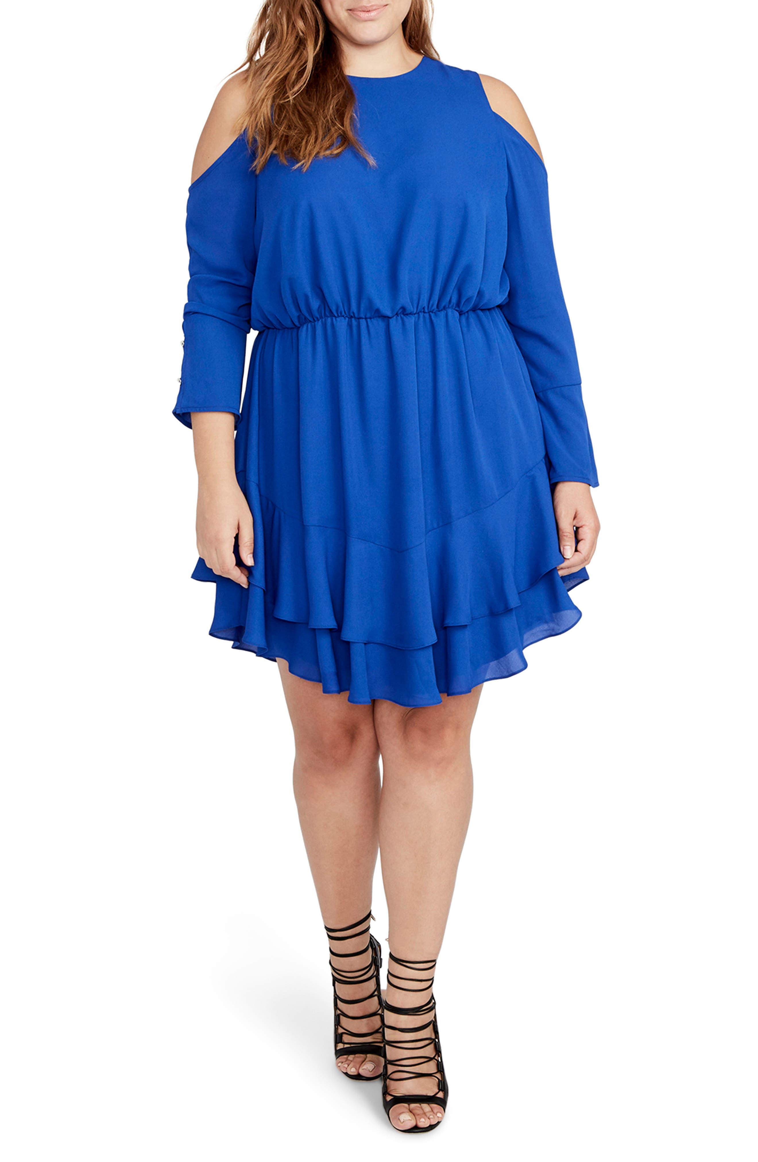 RACHEL Rachel Roy Coco Cold Shoulder Dress (Plus Size)