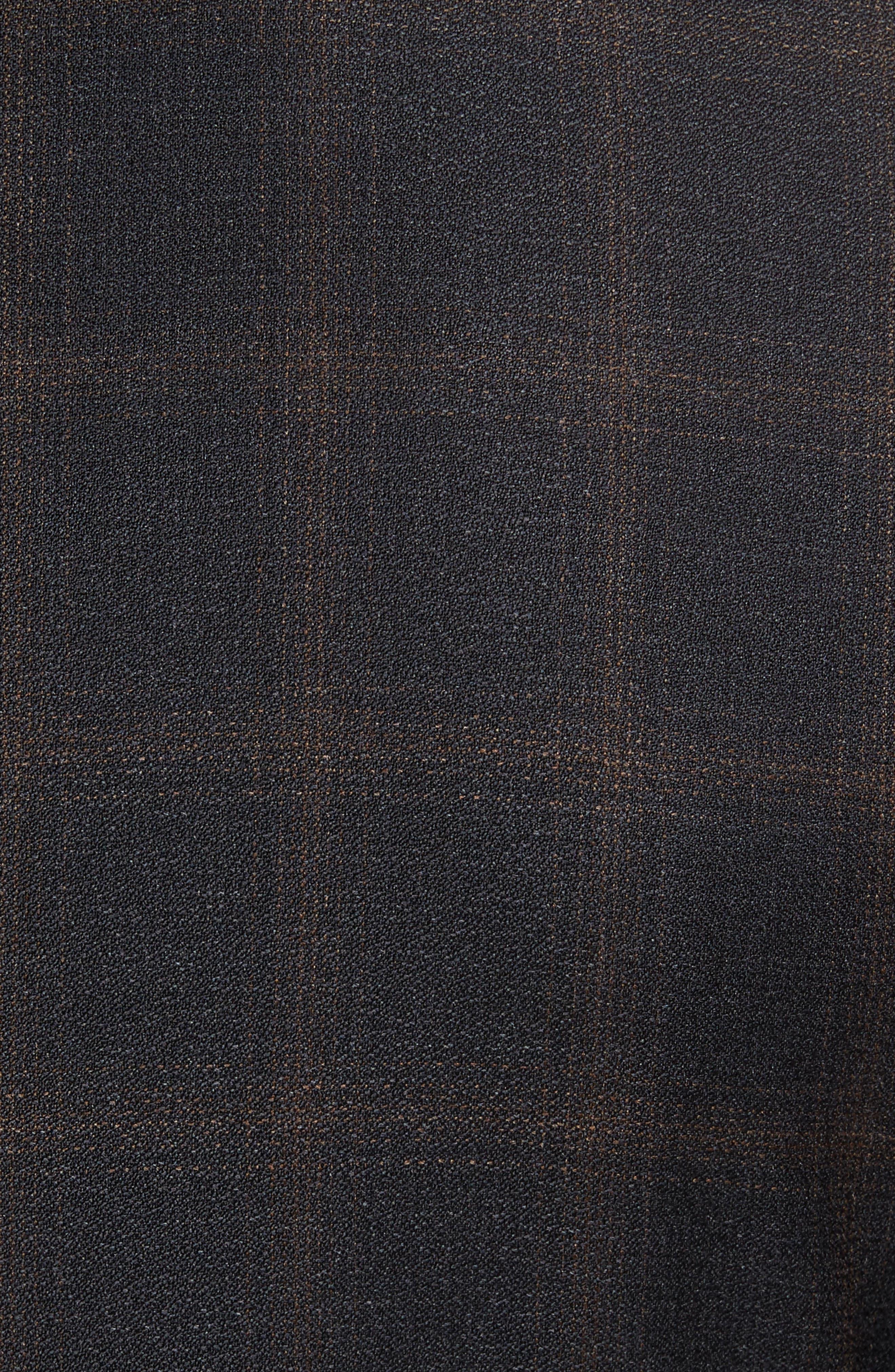 Novan/Ben Trim Fit Plaid Wool Suit,                             Alternate thumbnail 7, color,                             Open Grey