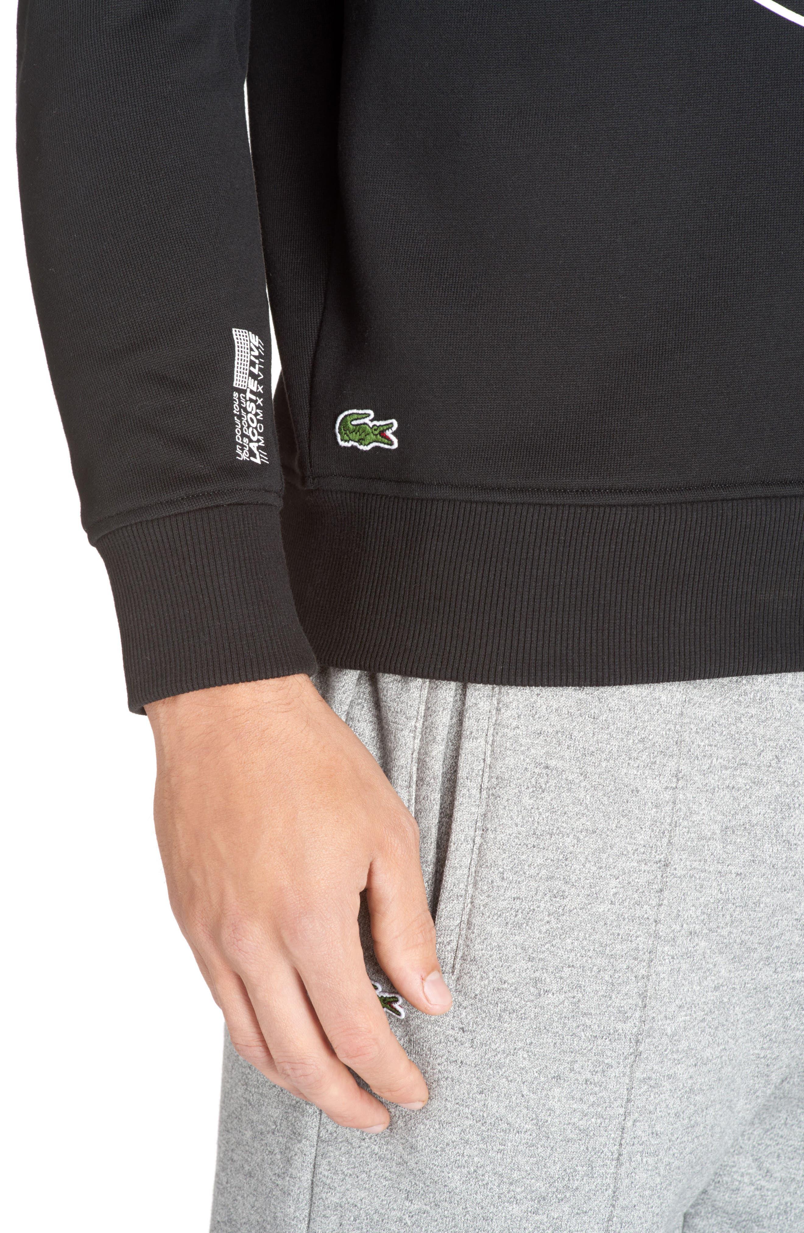Alternate Image 3  - Lacoste Molleton Worldwide Sweatshirt