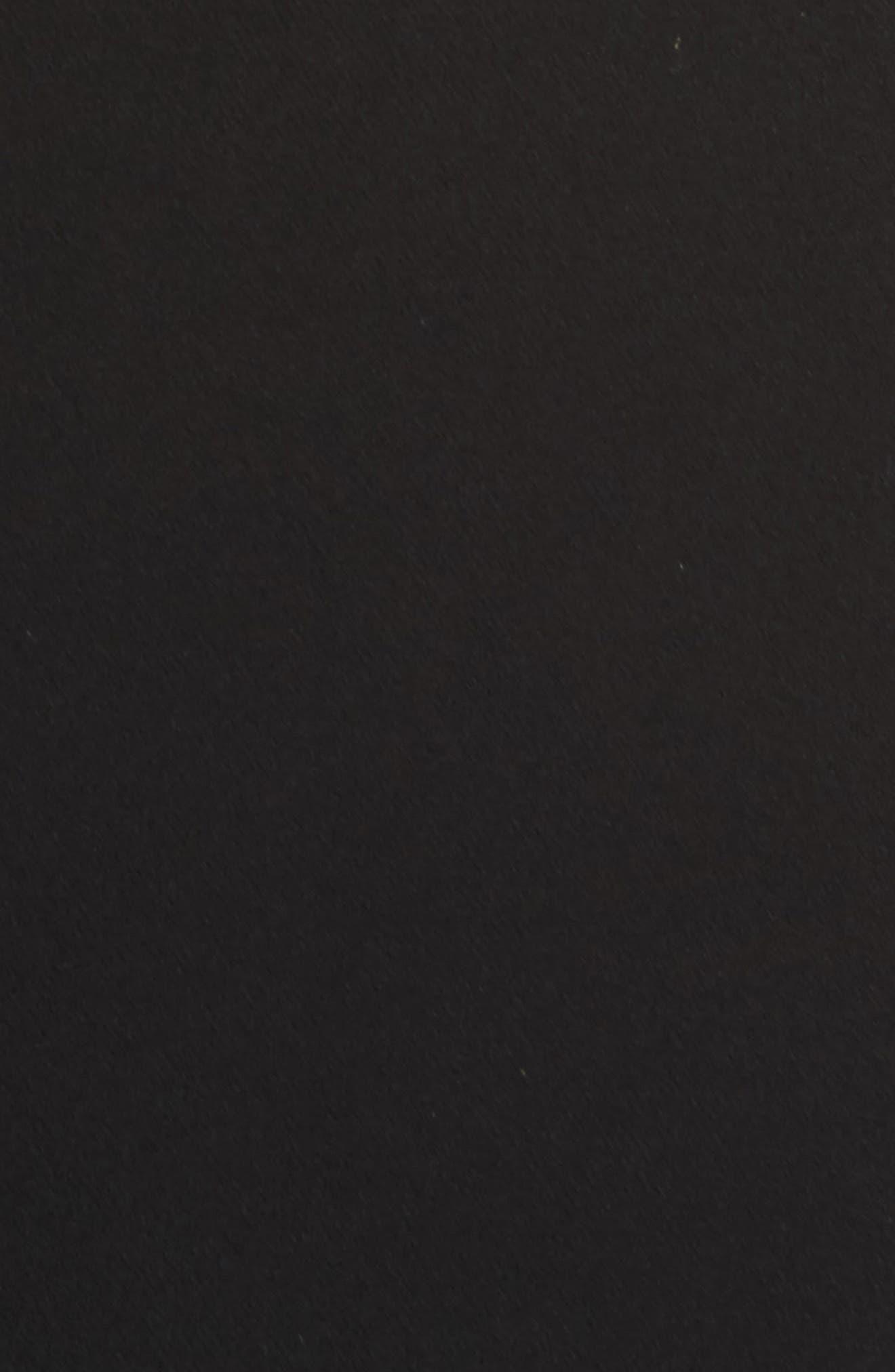 Karen Italian Cady Off the Shoulder Dress,                             Alternate thumbnail 5, color,                             Black