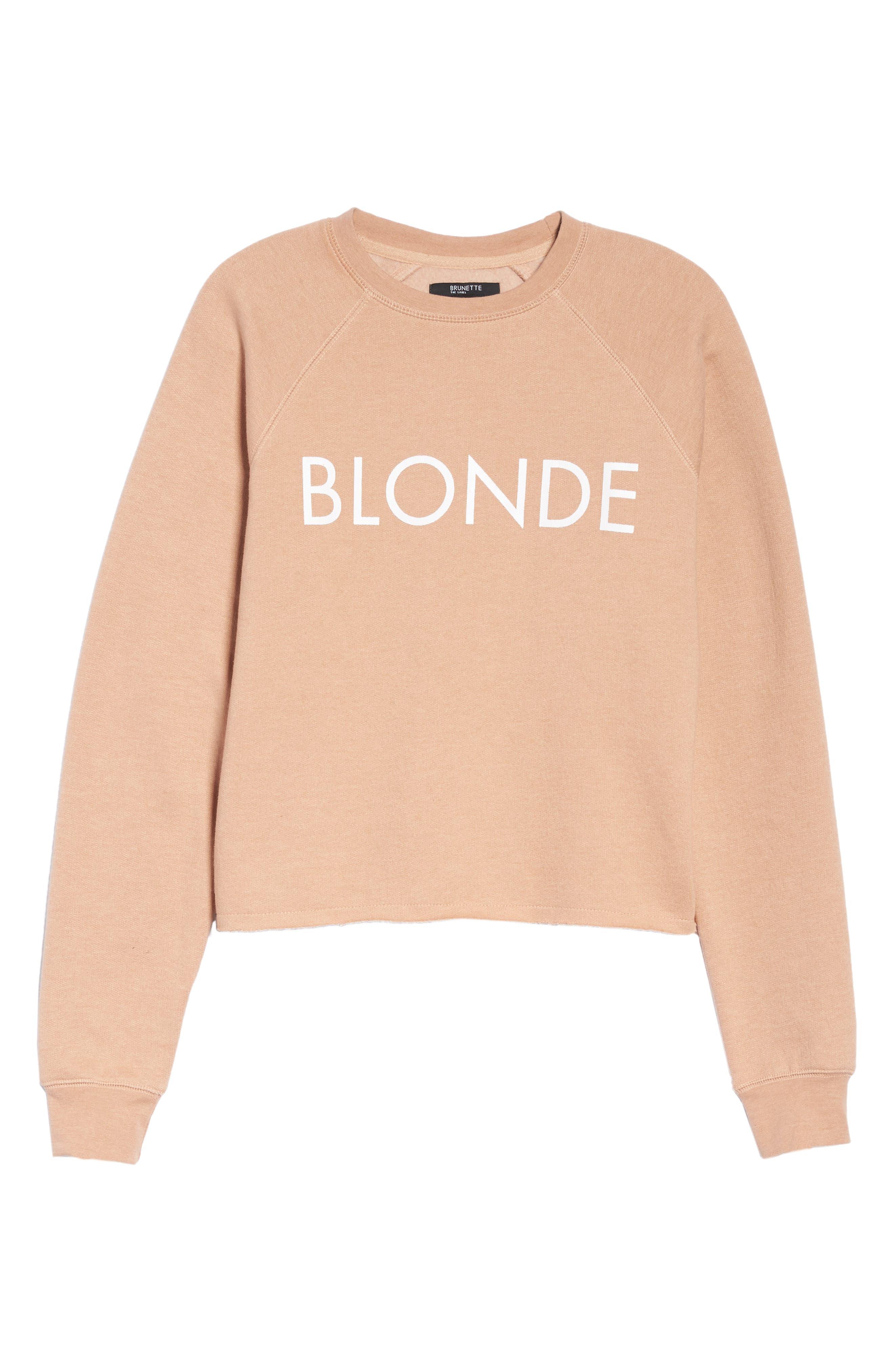 Alternate Image 4  - BRUNETTE the Label Middle Sister Blonde Sweatshirt