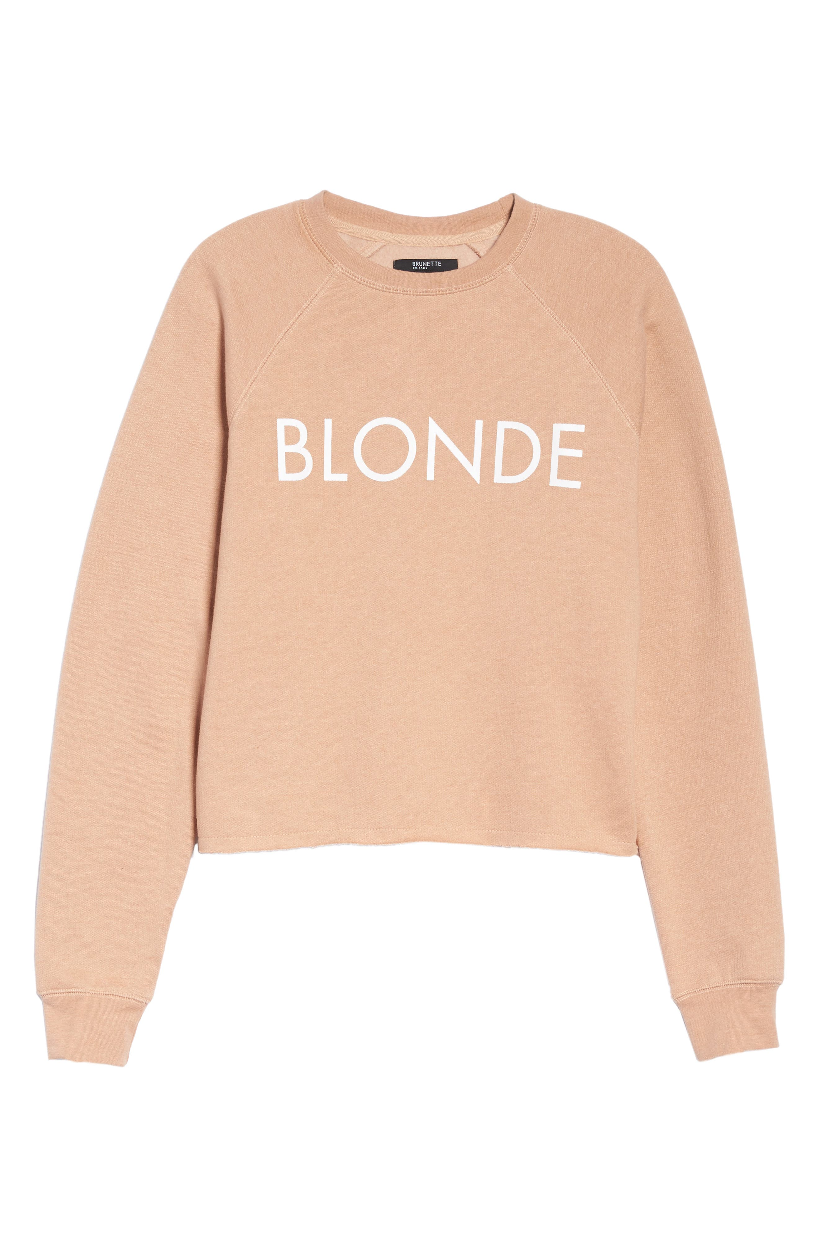 Middle Sister Blonde Sweatshirt,                             Alternate thumbnail 4, color,                             Beige
