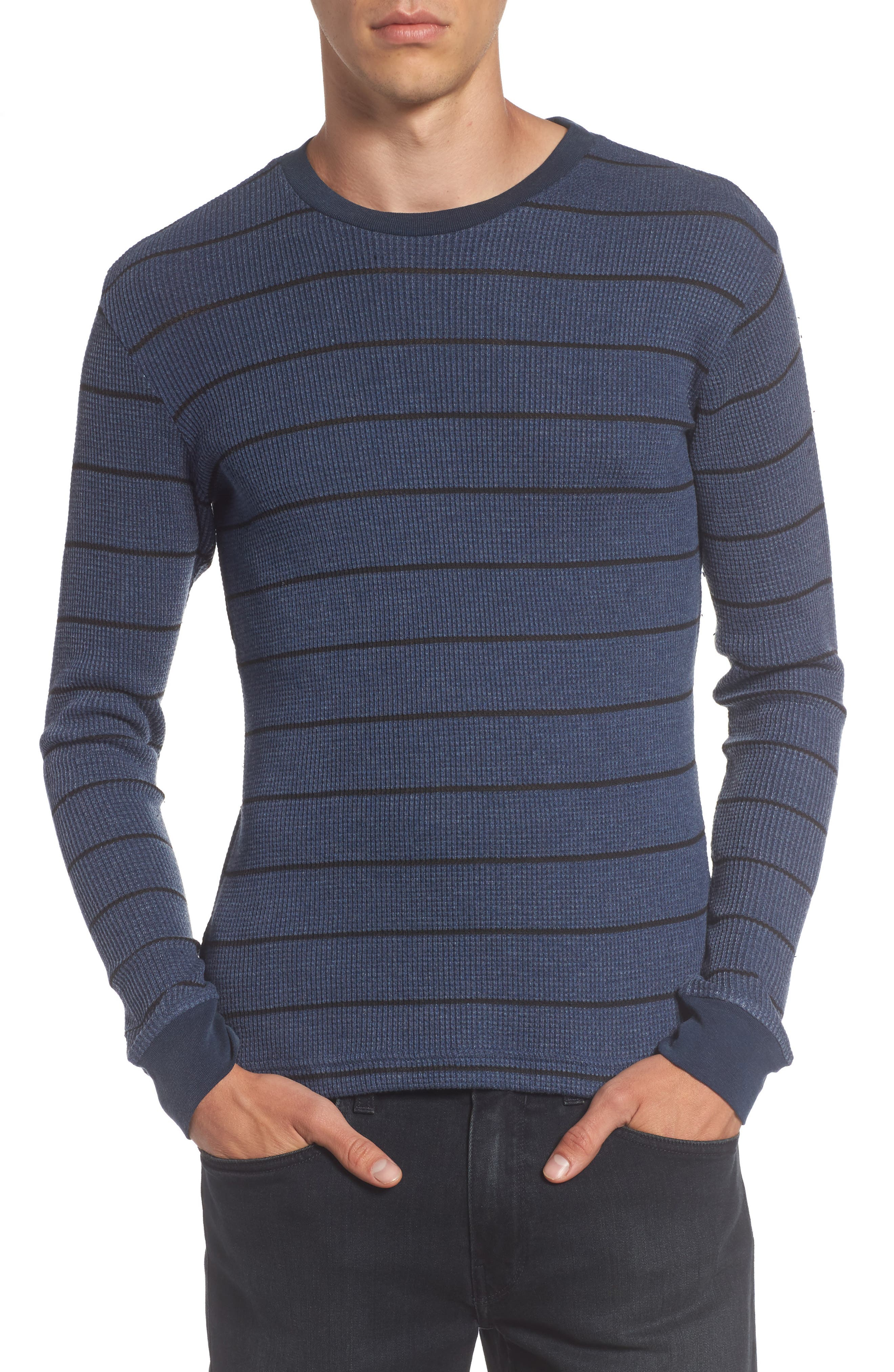 Alternate Image 1 Selected - RVCA Neutral Stripe Thermal T-Shirt