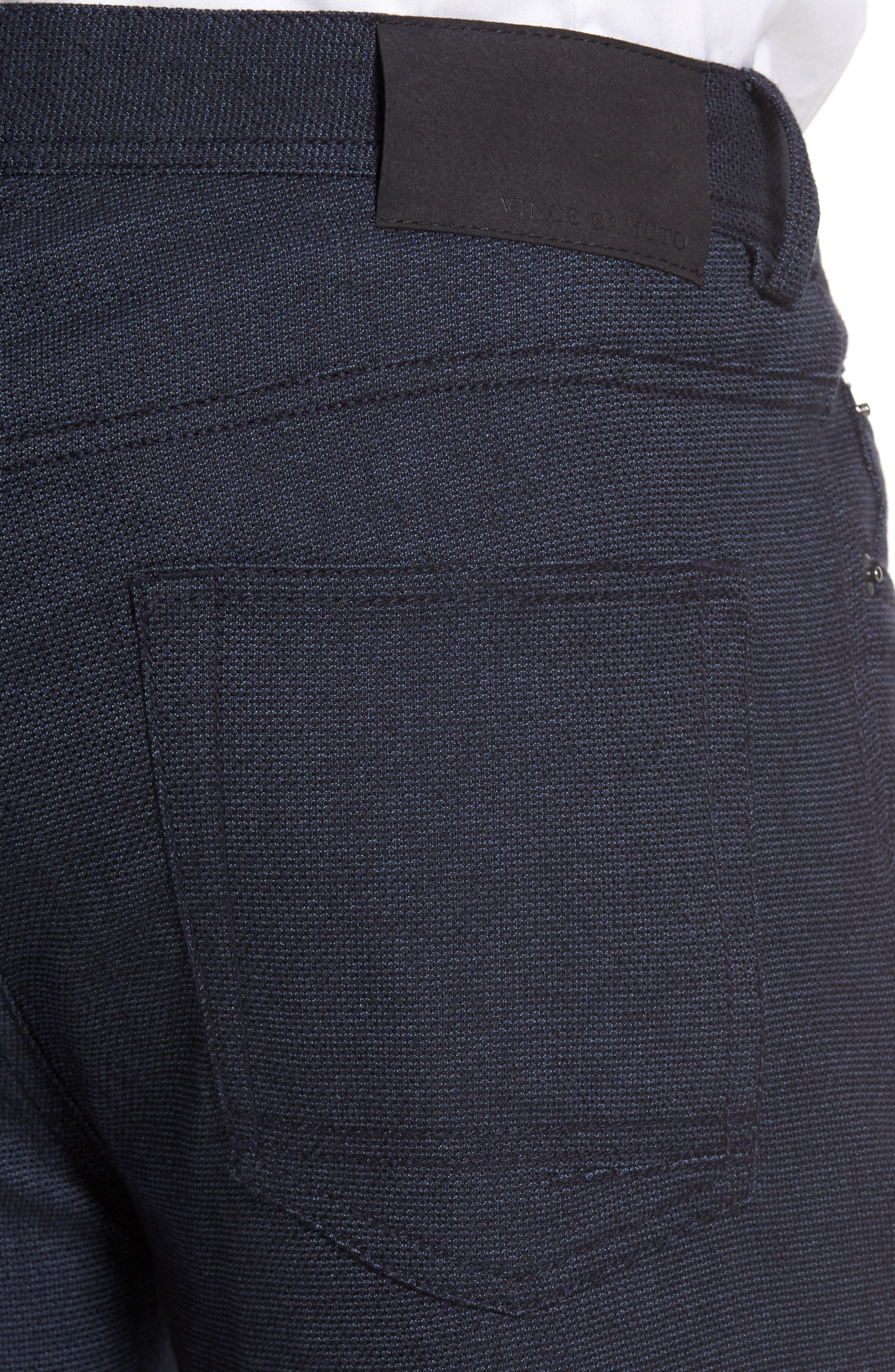 Vince Slim Fit Stretch Five-Pocket Pants,                             Alternate thumbnail 4, color,                             Navy Digital Neat