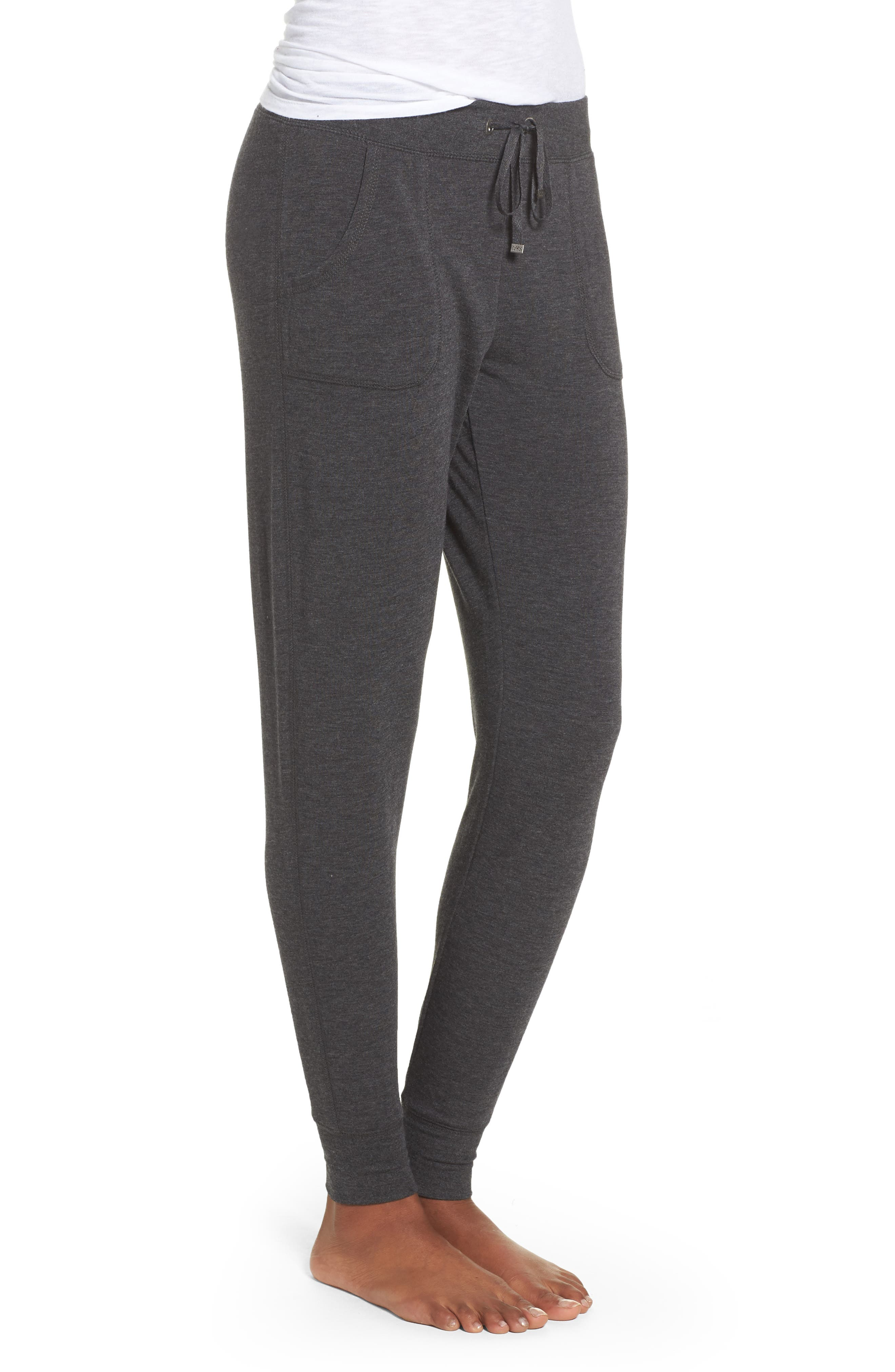 All About It Lounge Pants,                             Alternate thumbnail 4, color,                             Grey Wolf Heather