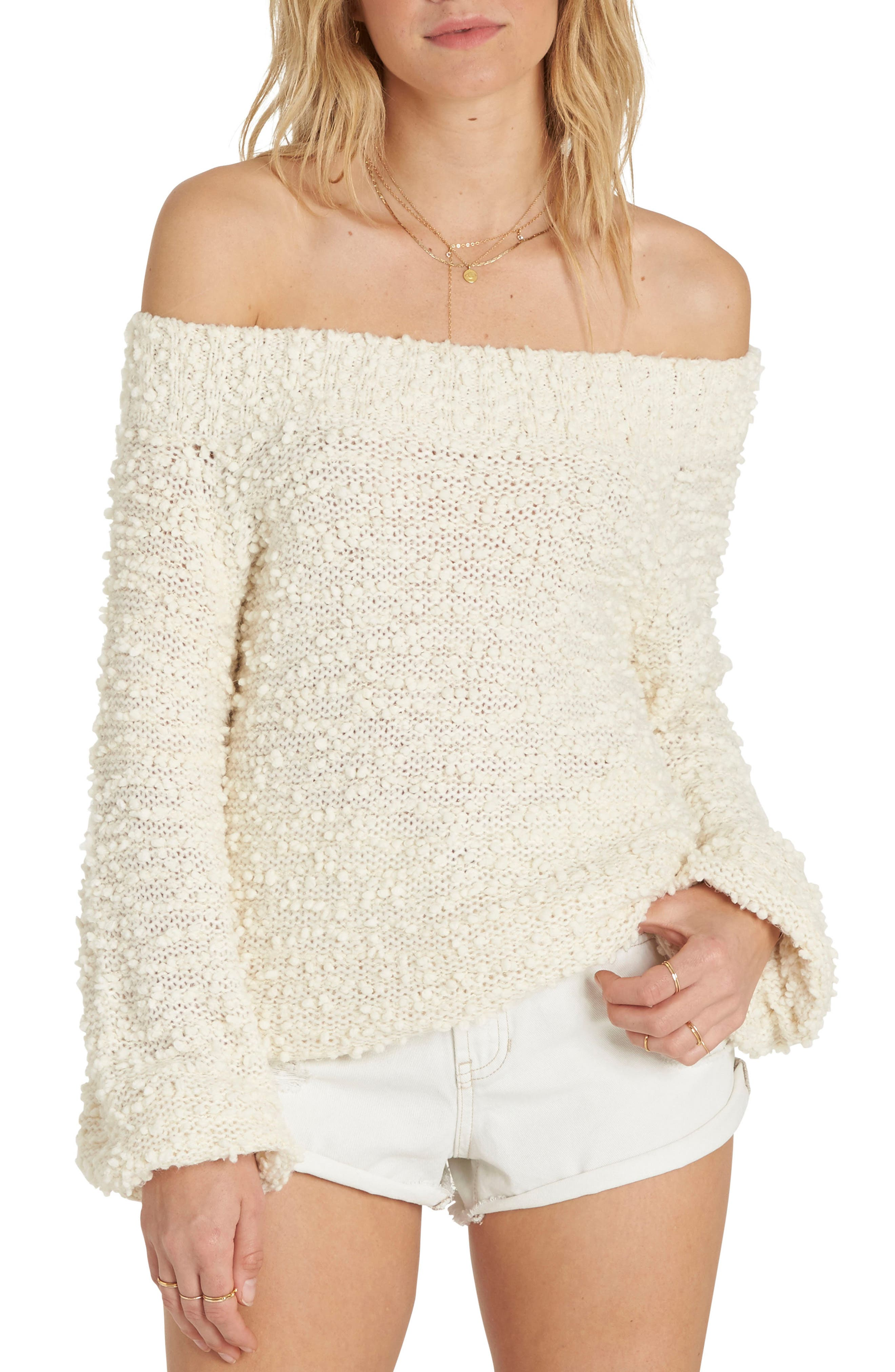 Furget Me Not Sweater,                         Main,                         color, White Cap