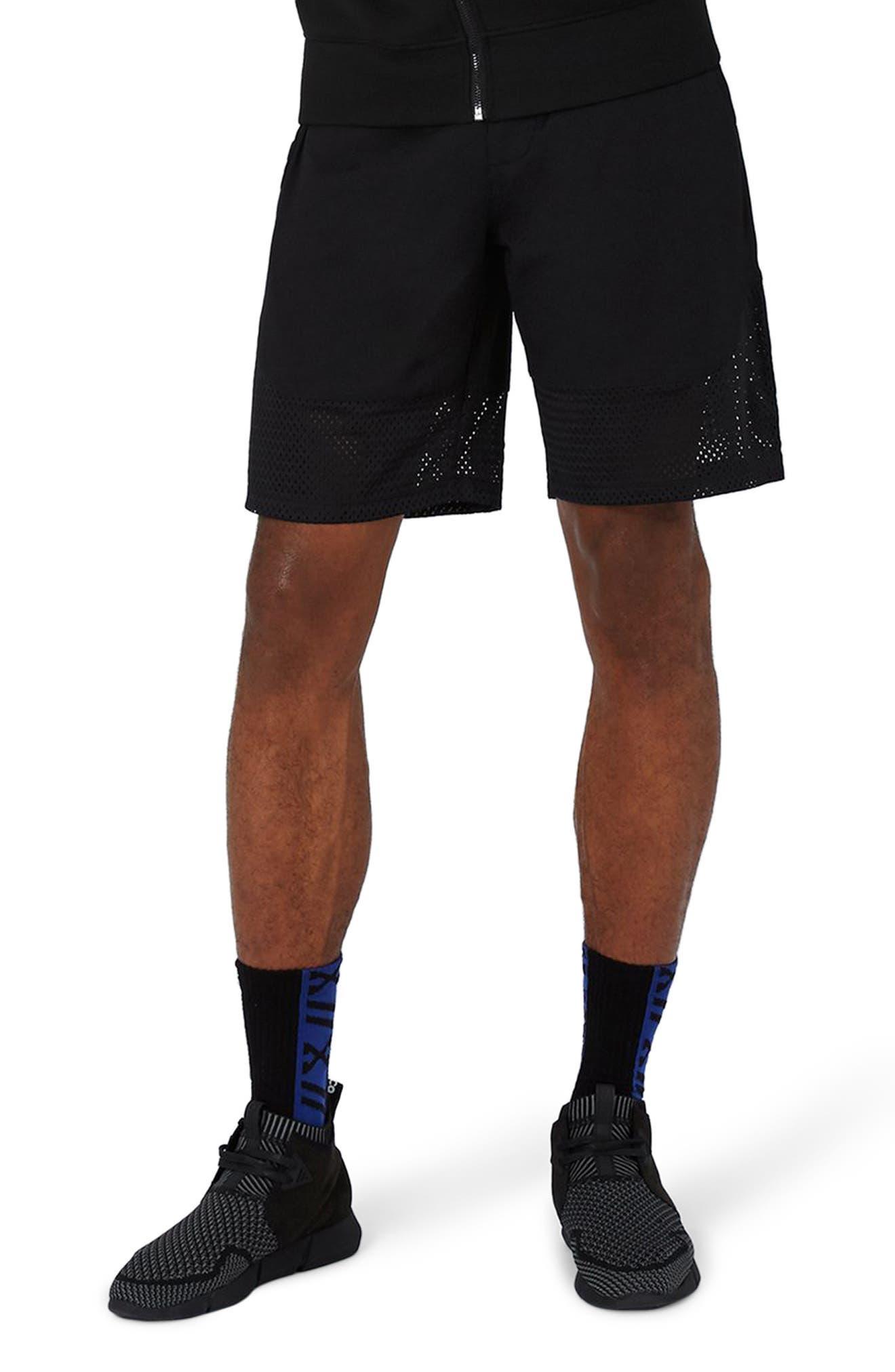 Topman AAA Collection Mesh Hem Shorts