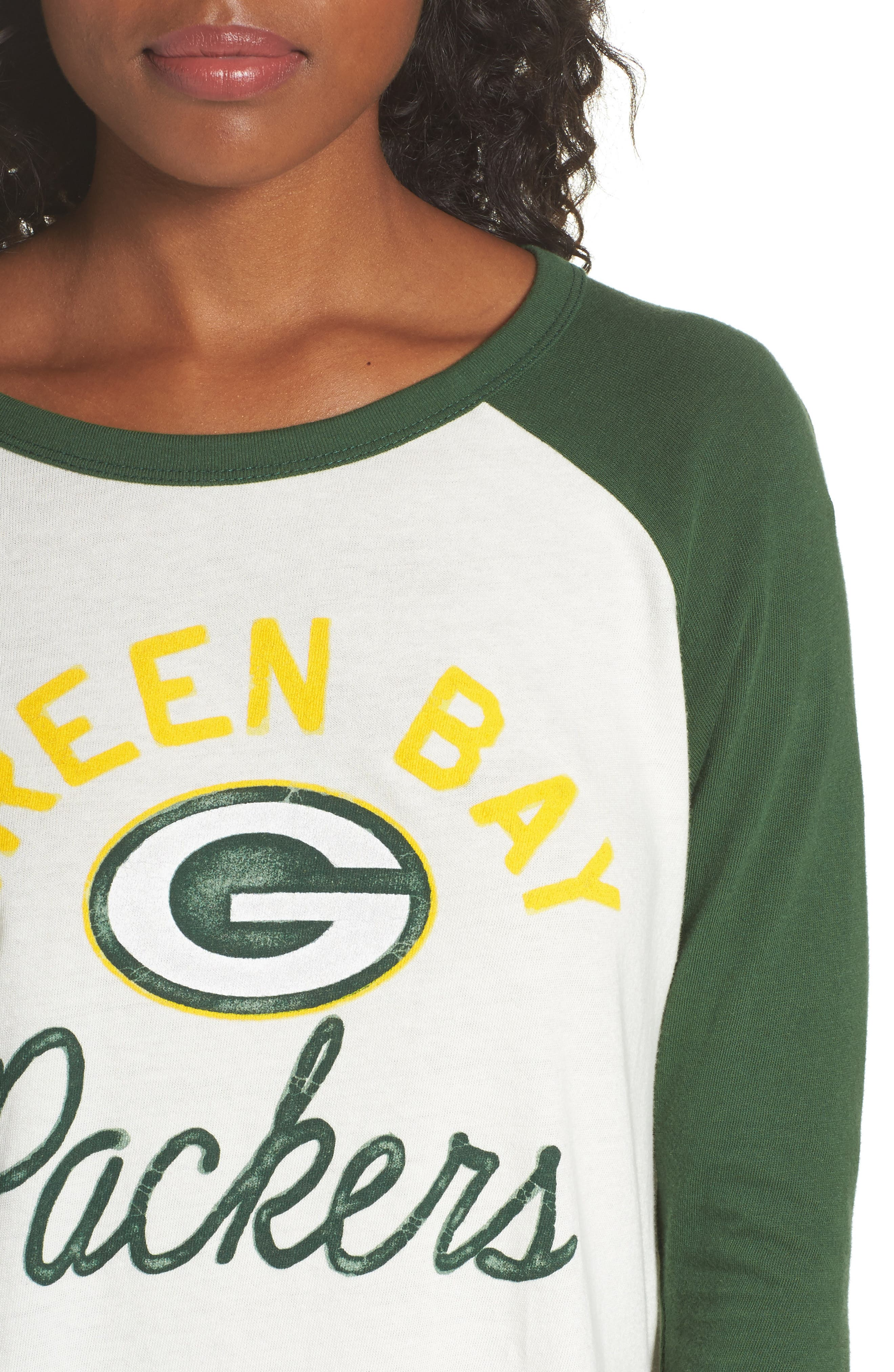Alternate Image 4  - Junk Food NFL Green Bay Packers Raglan Tee