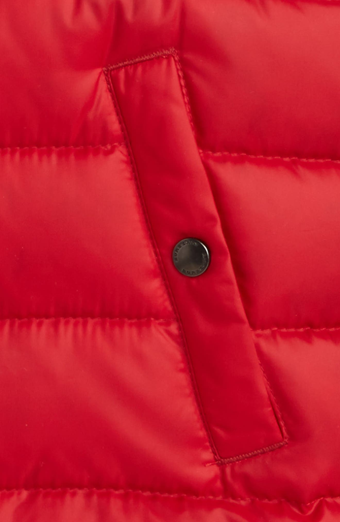 'Carlton' Quilted Down Vest,                             Alternate thumbnail 2, color,                             Parade Red