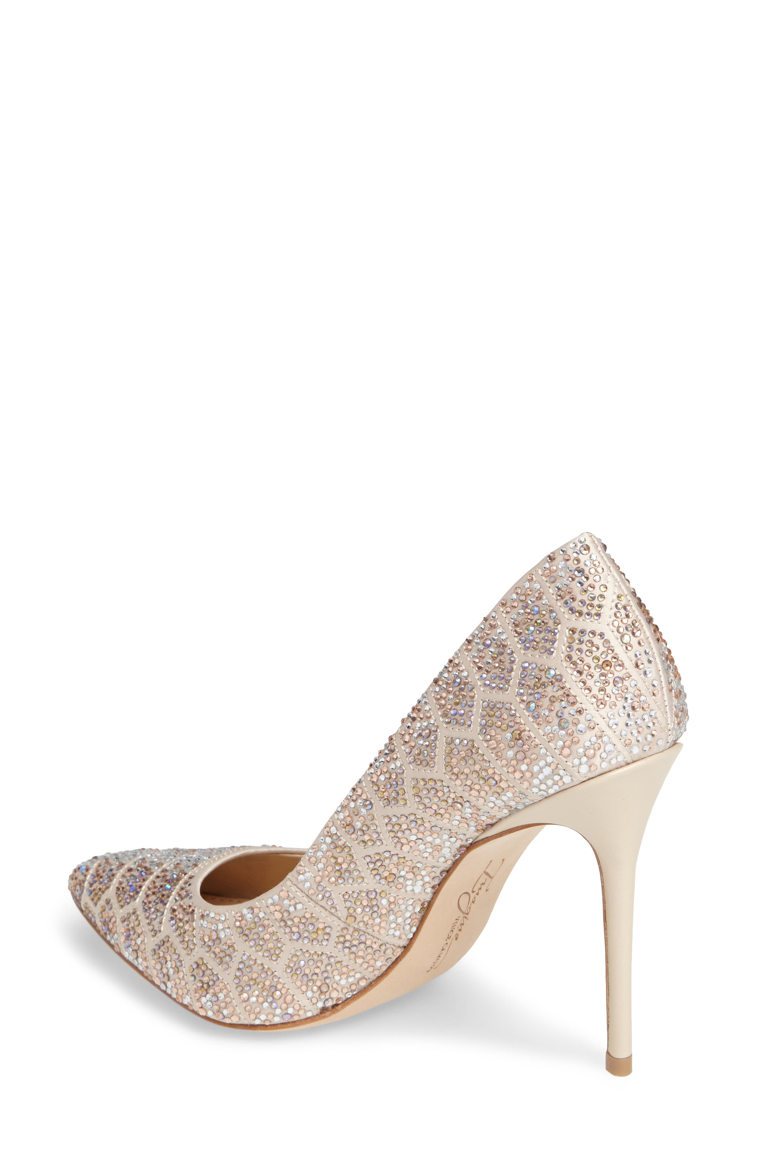 Imagine Vince Camuto 'Olivier' Pointy Toe Pump,                             Alternate thumbnail 2, color,                             Light Sand