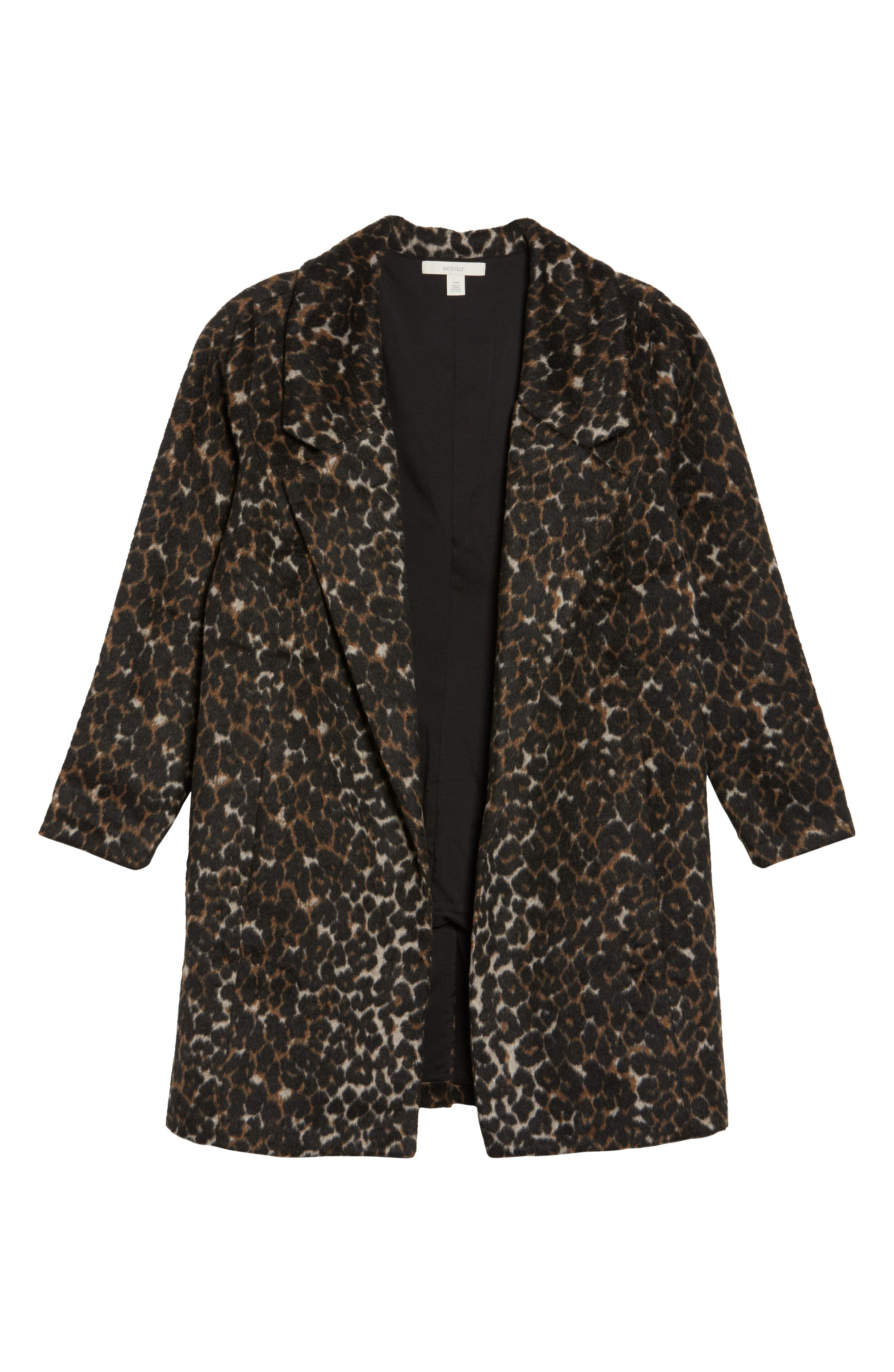 Alternate Image 6  - Sejour Leopard Print Jacket (Plus Size)
