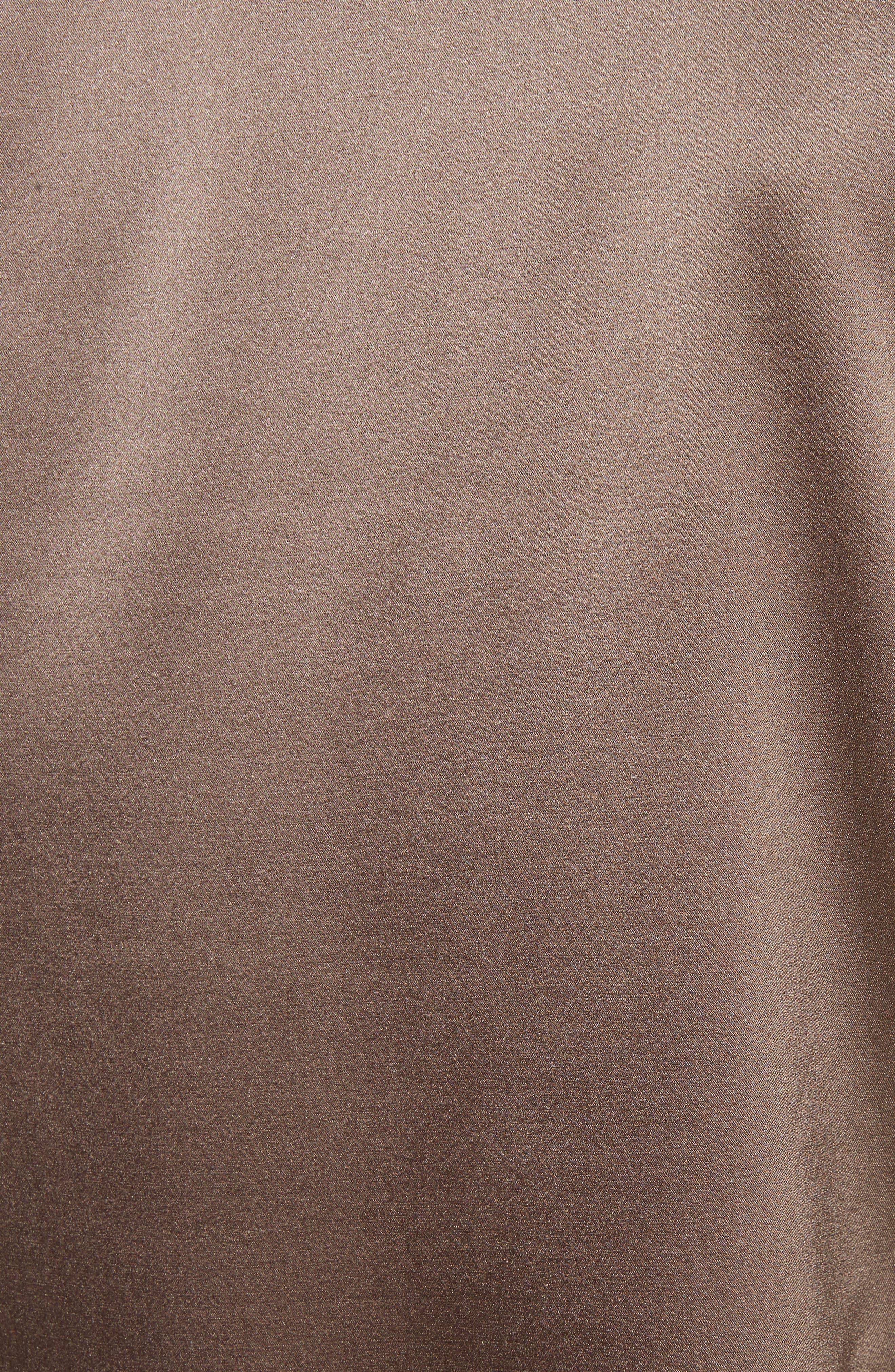 Shield Silk Blouse,                             Alternate thumbnail 5, color,                             Khaki