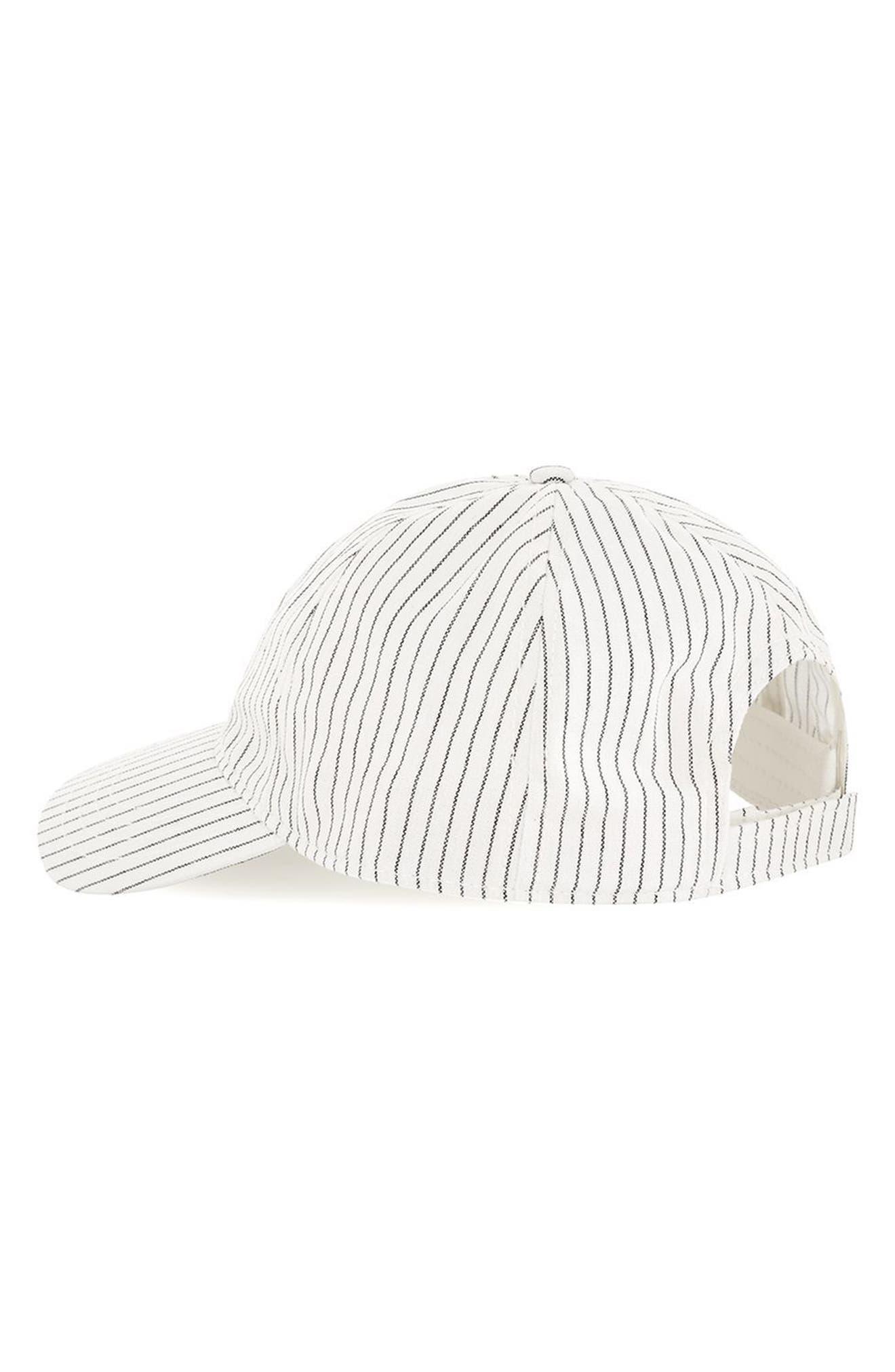 Stripe Boys Curved Peak Cap,                             Alternate thumbnail 2, color,                             White Multi