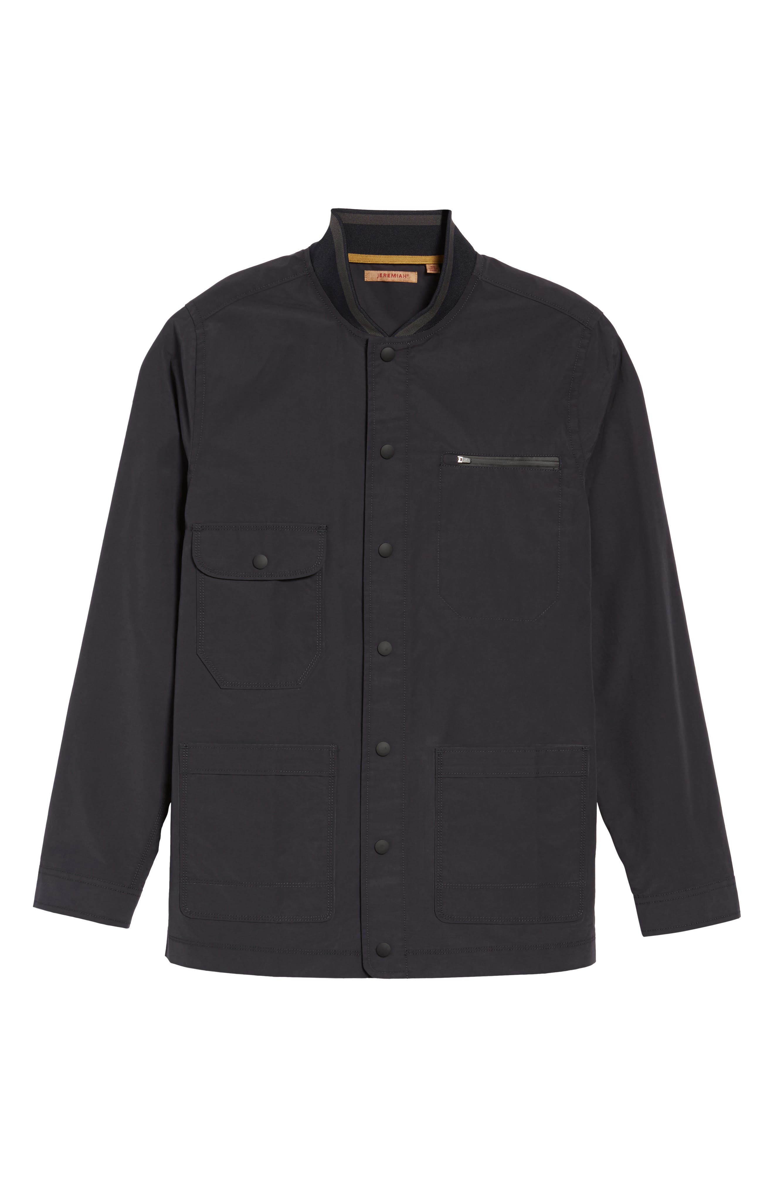 Jarvis Coated Cotton Blend Jacket,                             Alternate thumbnail 6, color,                             Inkwell