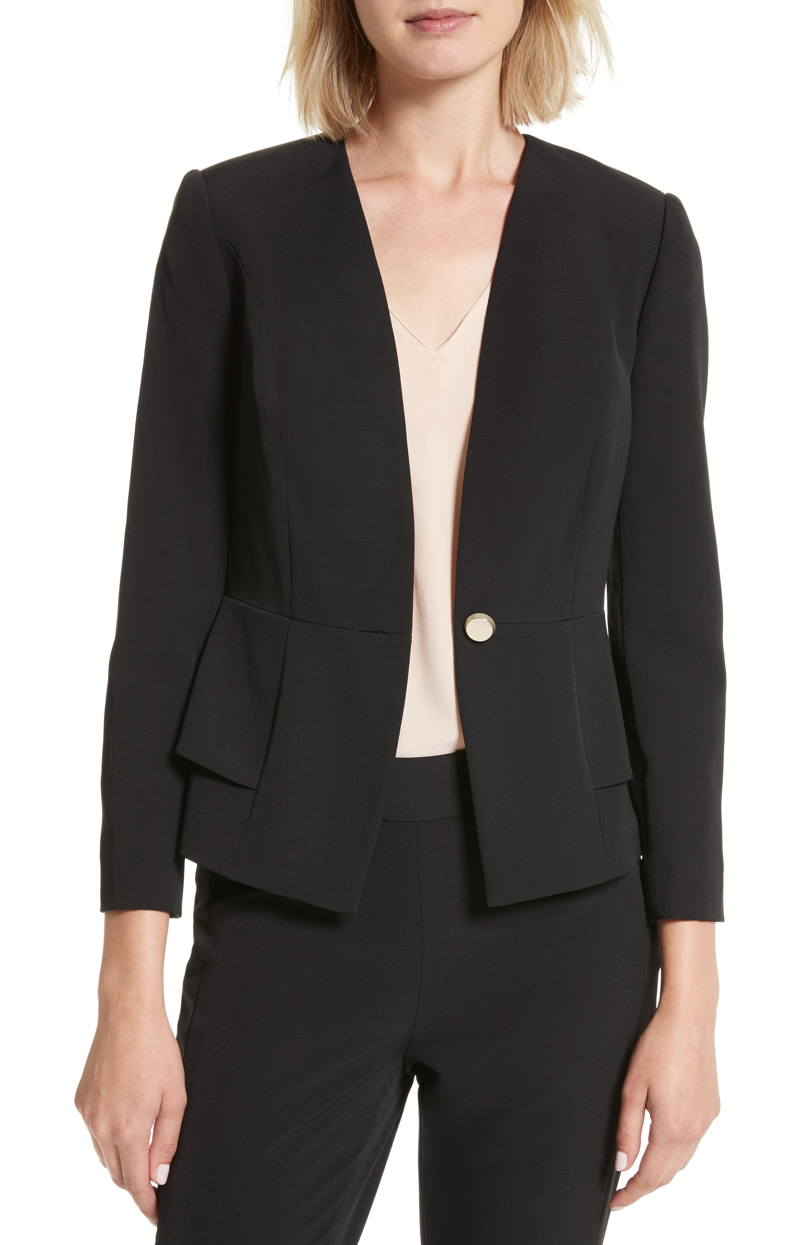 Main Image - Ted Baker London Fearnie Architectural Peplum Jacket