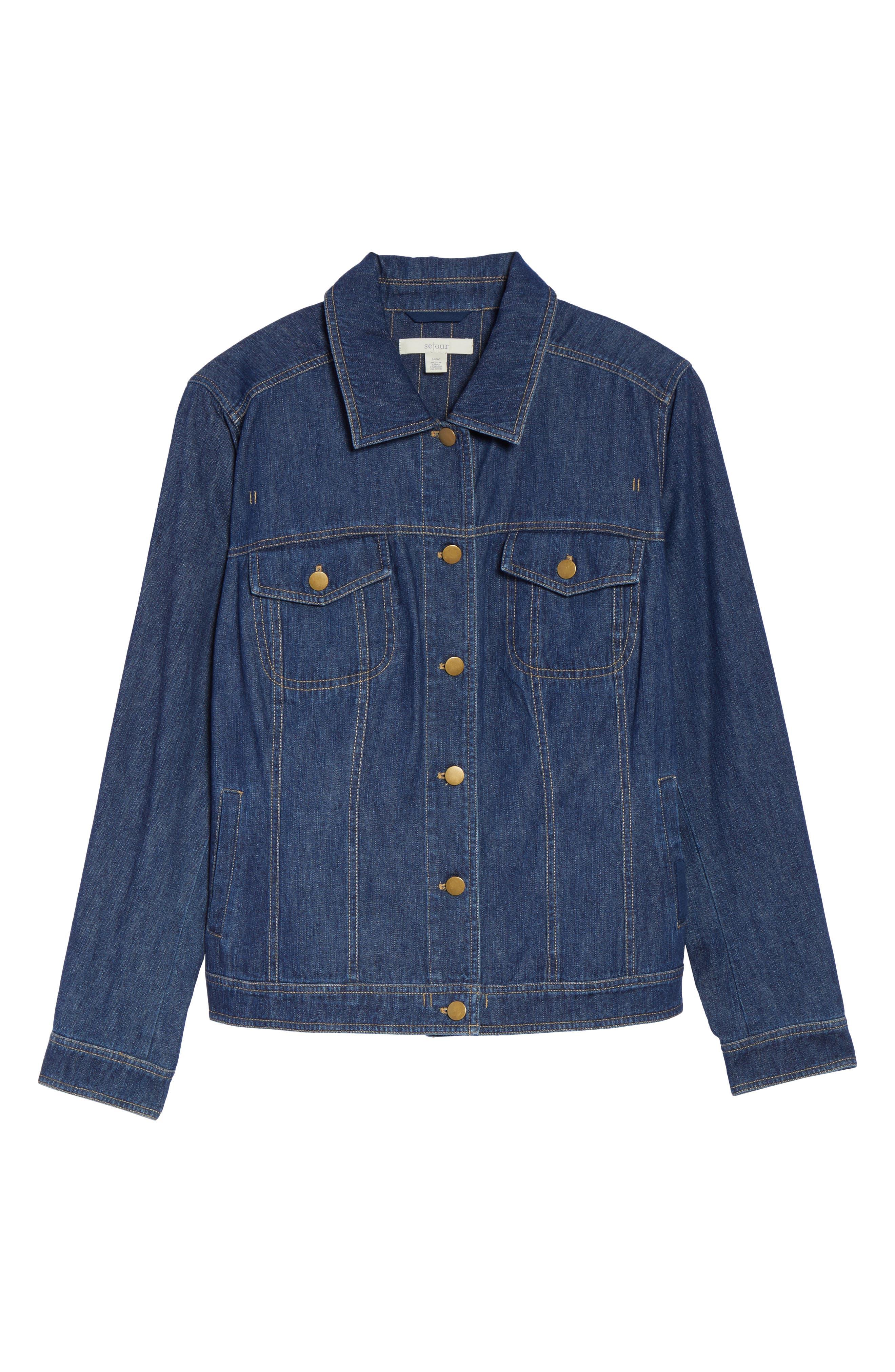 Alternate Image 6  - Sejour Denim Jacket (Plus Size)