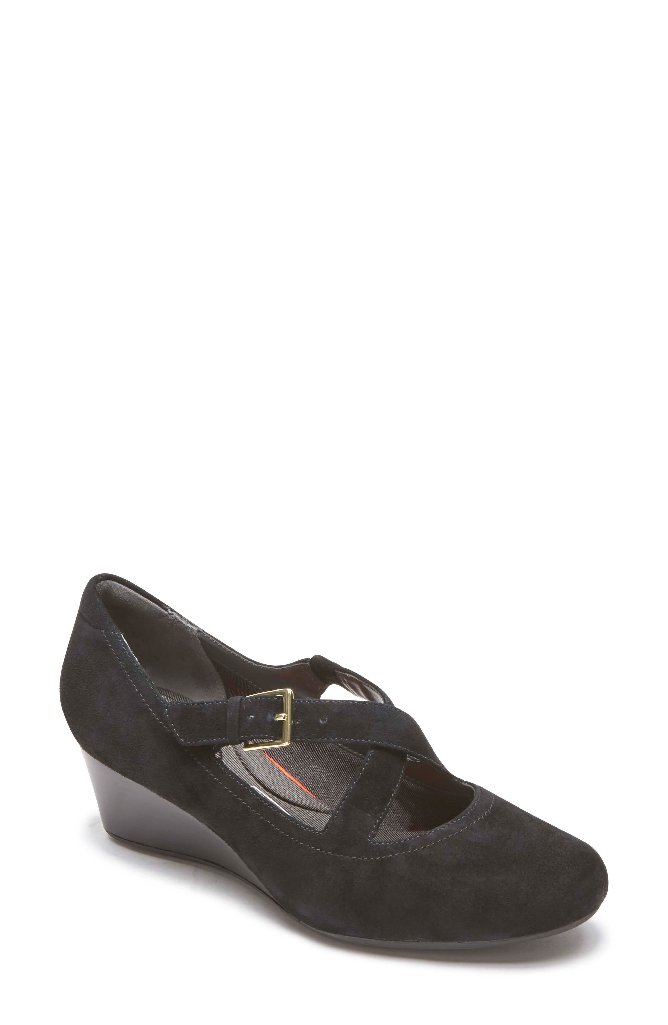 Rockport Total Motion Luxe Two-Strap Wedge (Women)