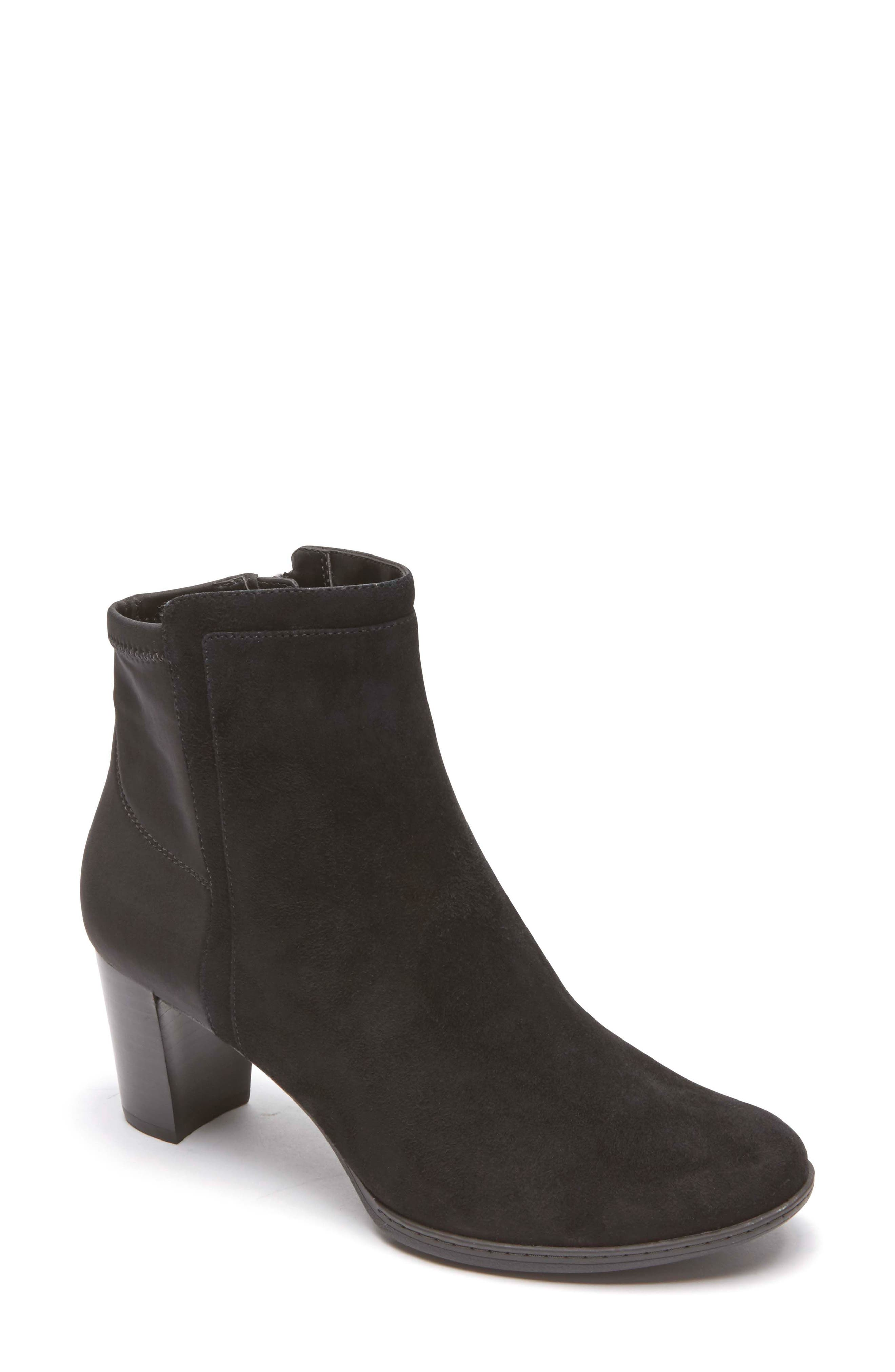 Chaya Bootie,                             Main thumbnail 1, color,                             Black Suede
