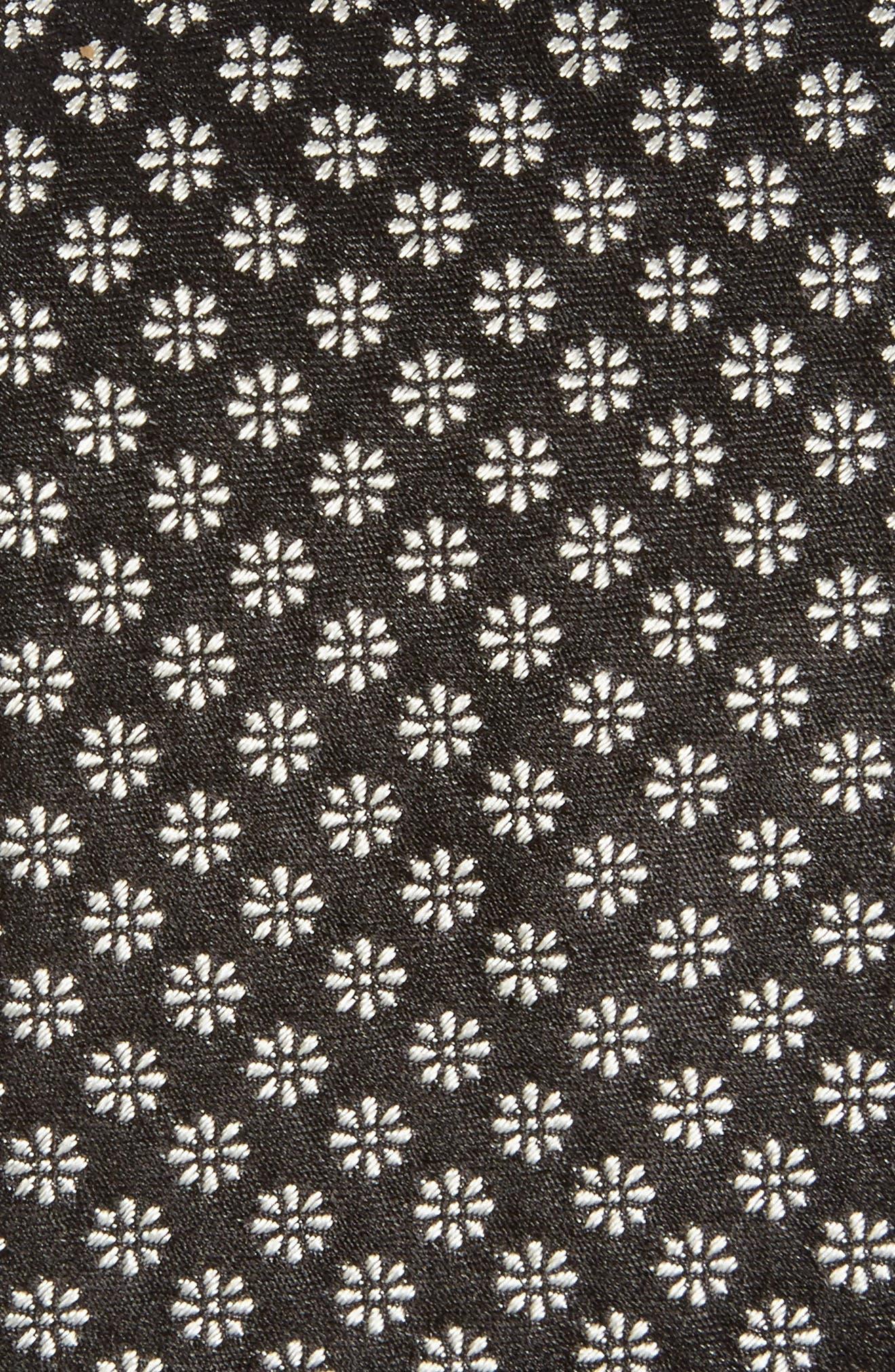 Floral Silk Skinny Tie,                             Alternate thumbnail 2, color,                             Navy