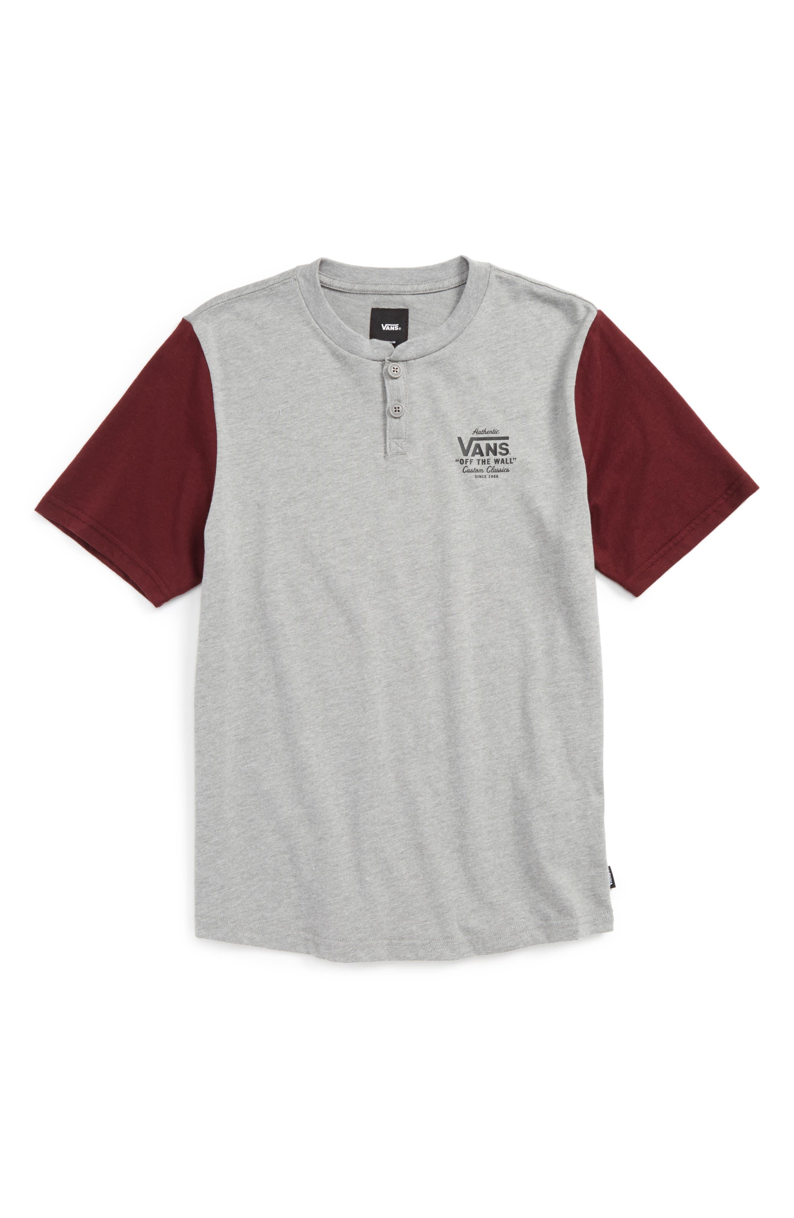 Vans Hitson II Henley T-Shirt (Big Boys)