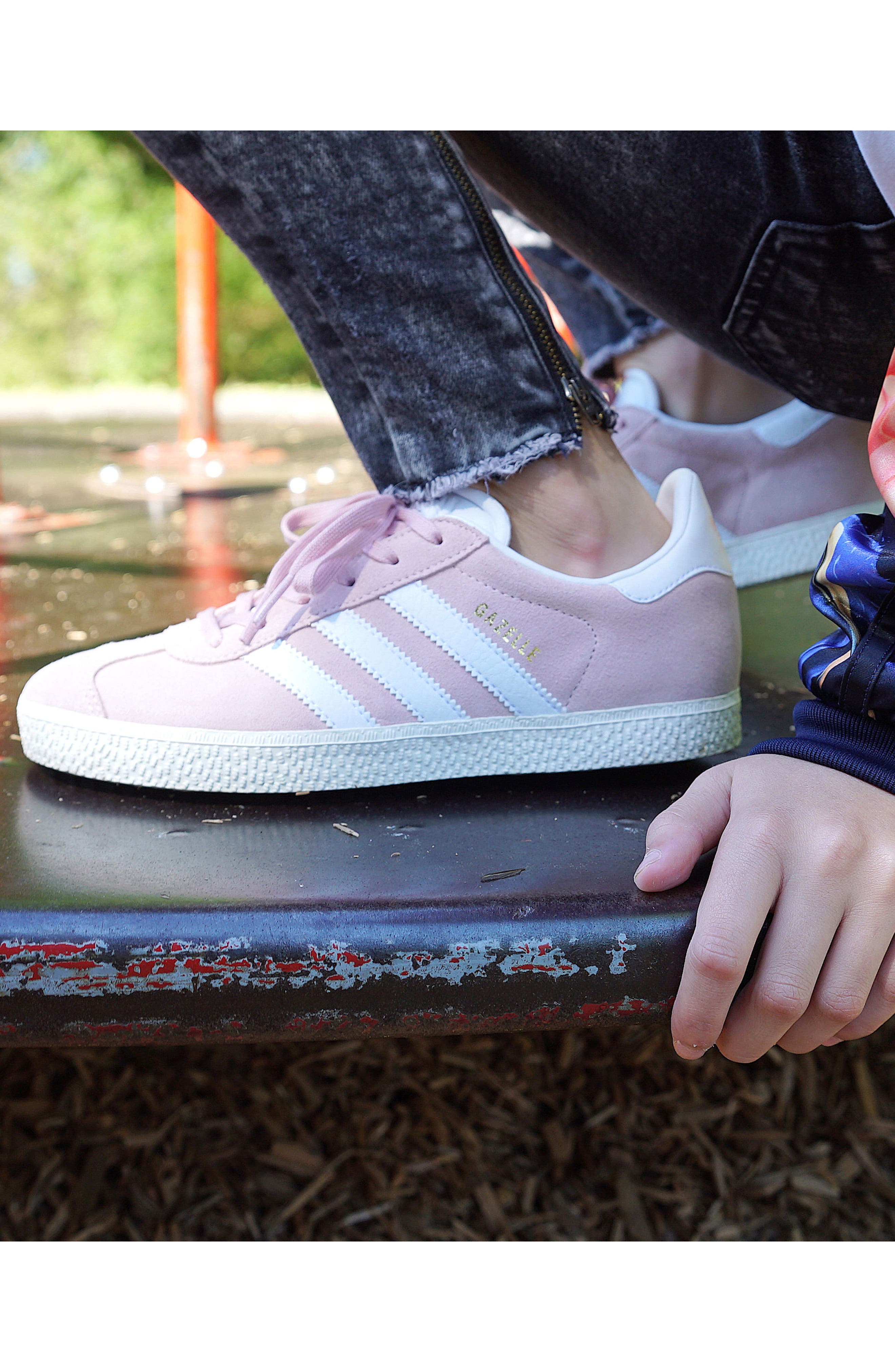 Gazelle Sneaker,                             Alternate thumbnail 8, color,                             Icy Pink/ White/ Gold
