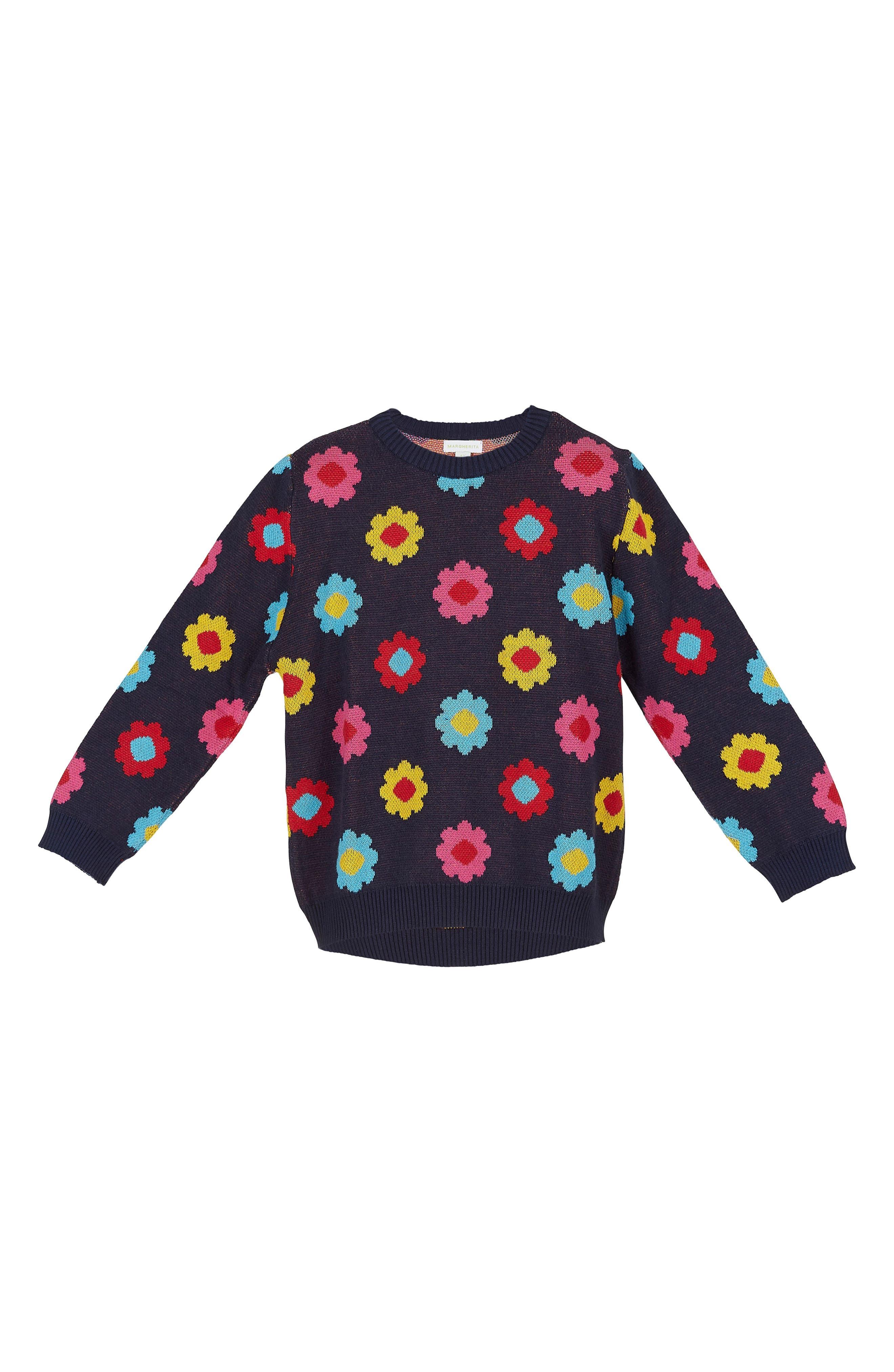 Margherita Daisy Double-Knit Sweater (Toddler Girls & Little Girls)