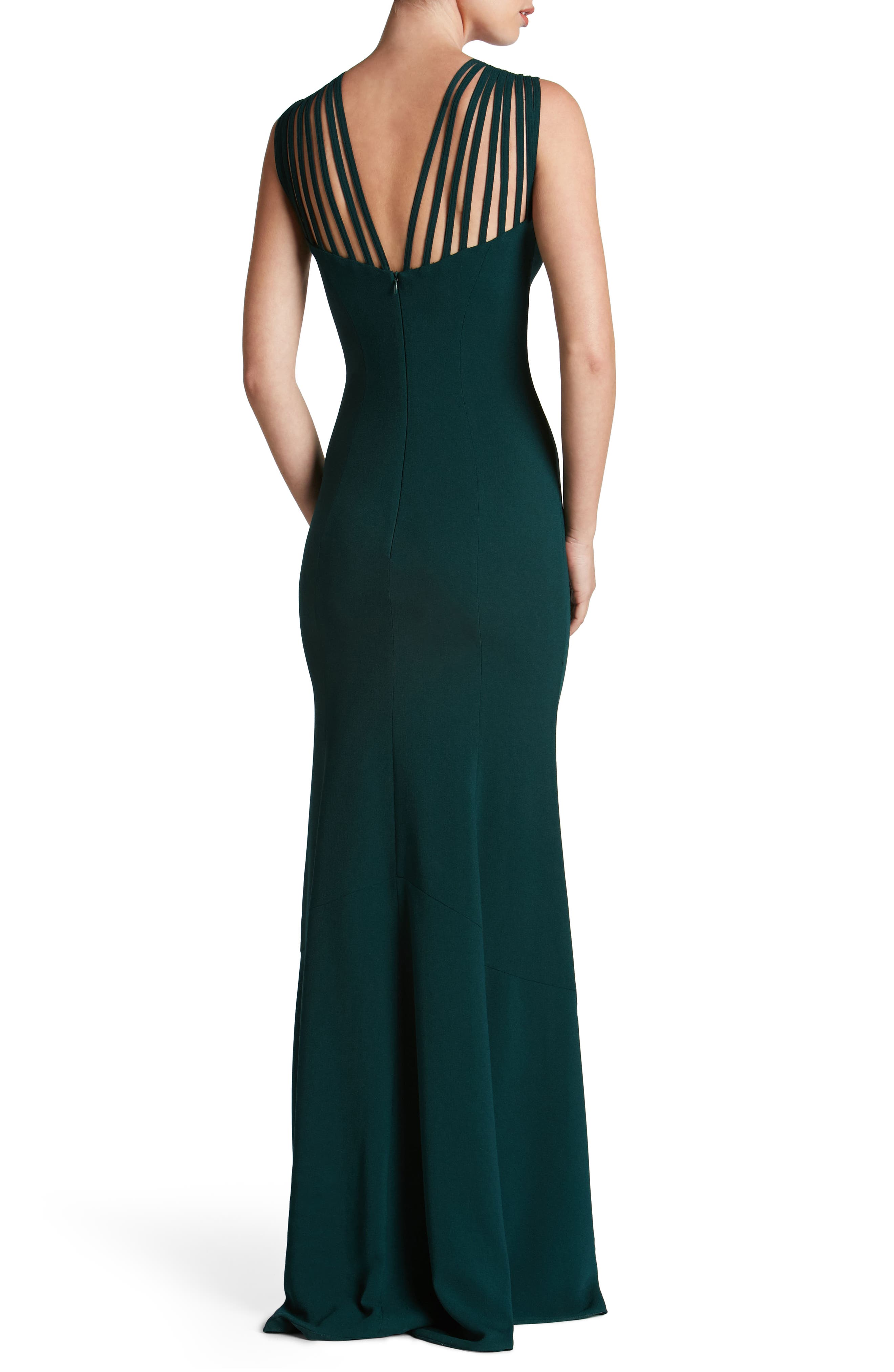 Alternate Image 2  - Dress the Population Harlow Crepe Gown